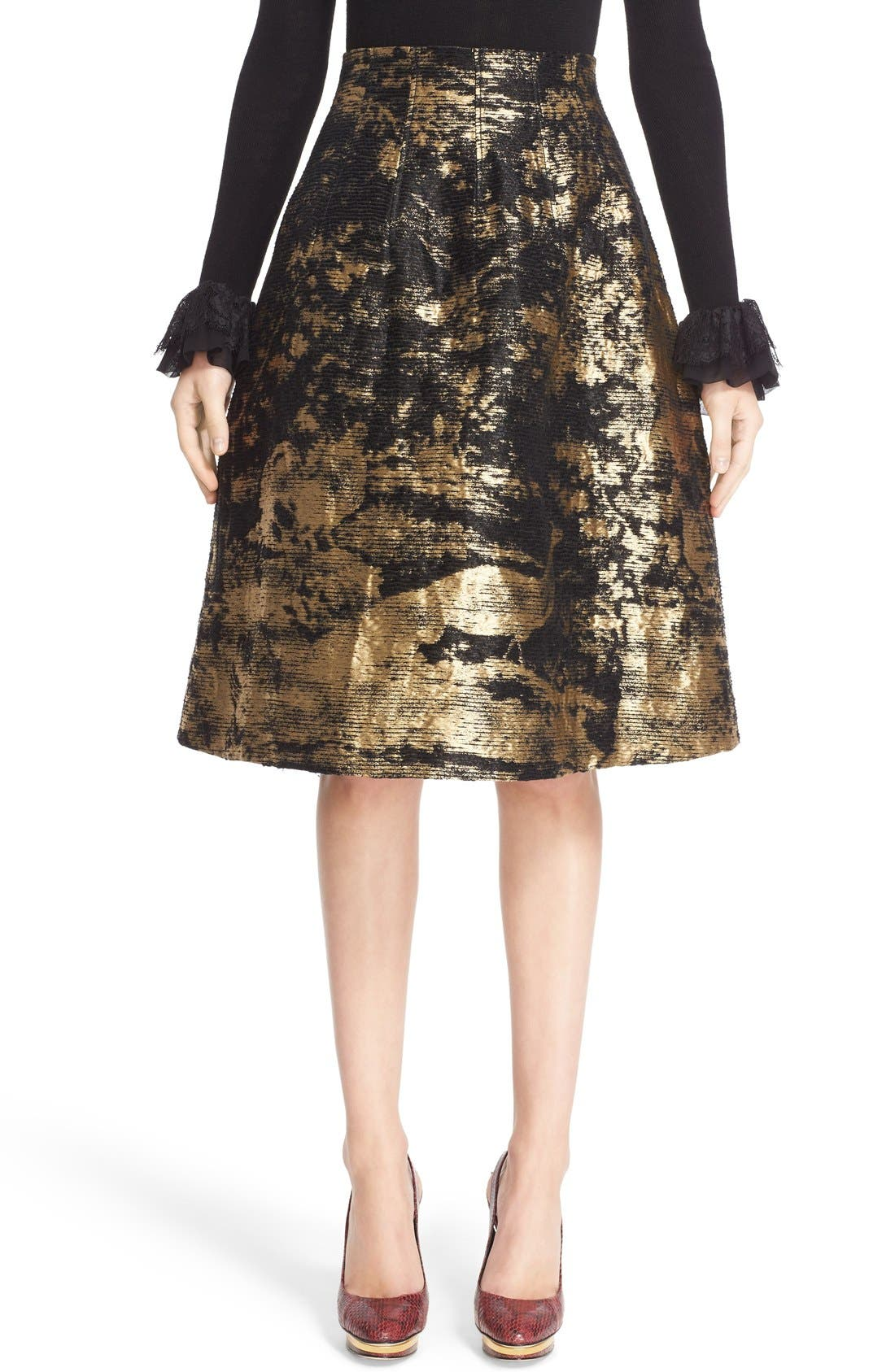 Peacock Jacquard Skirt,                             Main thumbnail 1, color,                             710