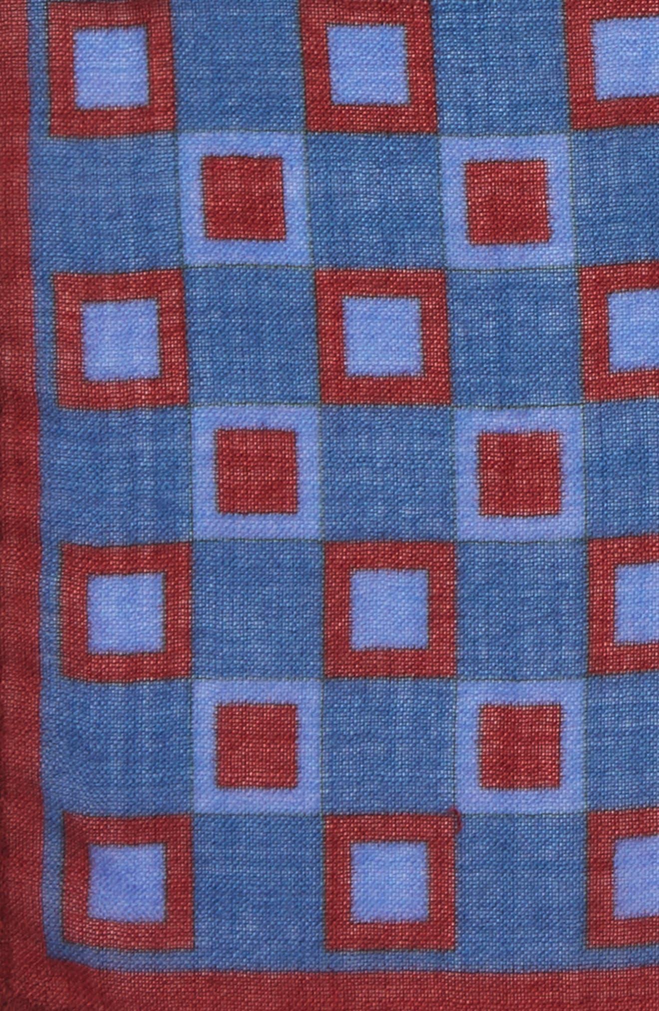 Geometric Pocket Square,                             Alternate thumbnail 6, color,