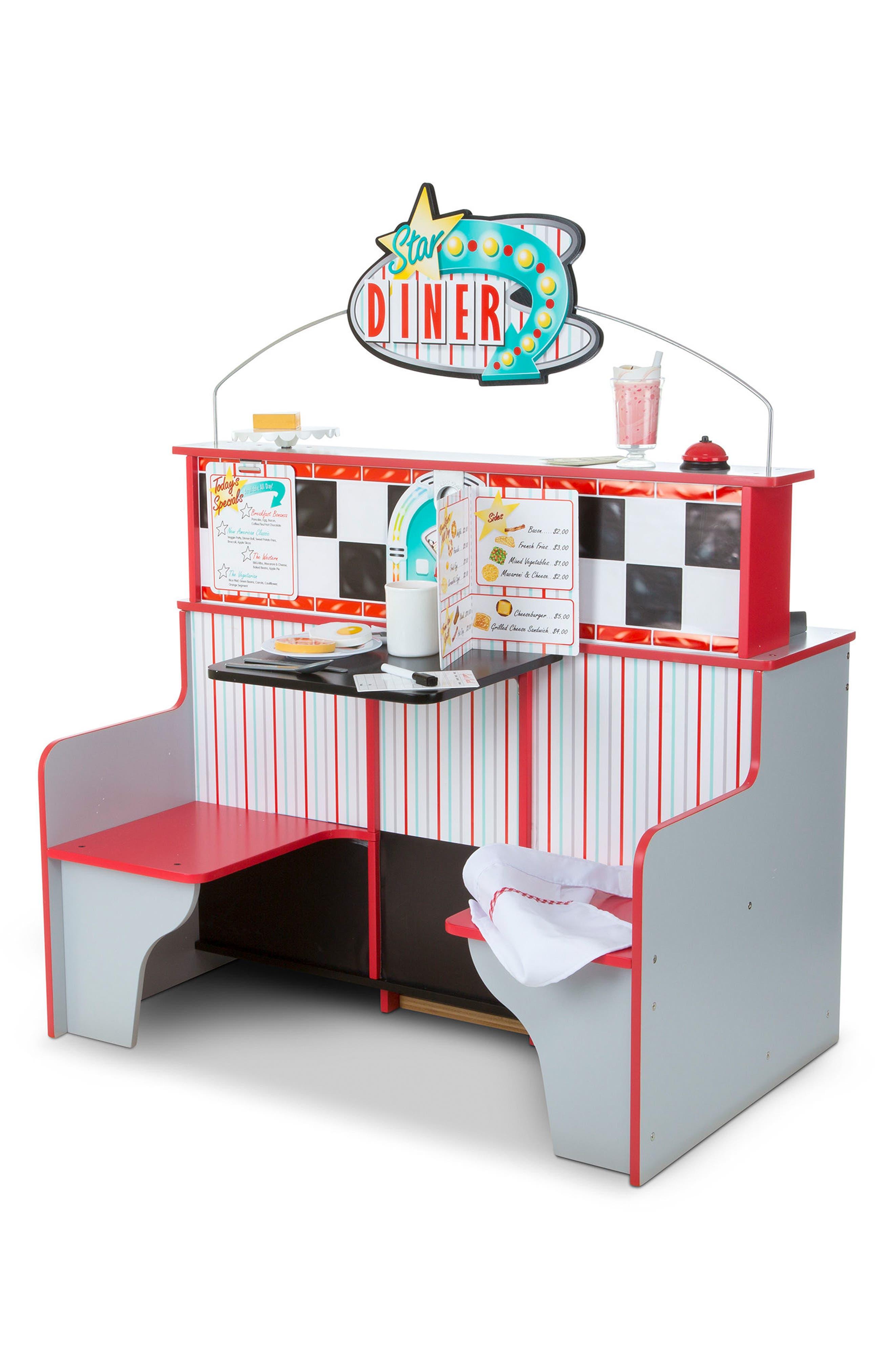 Star Diner Play Scene,                             Alternate thumbnail 3, color,                             WHITE