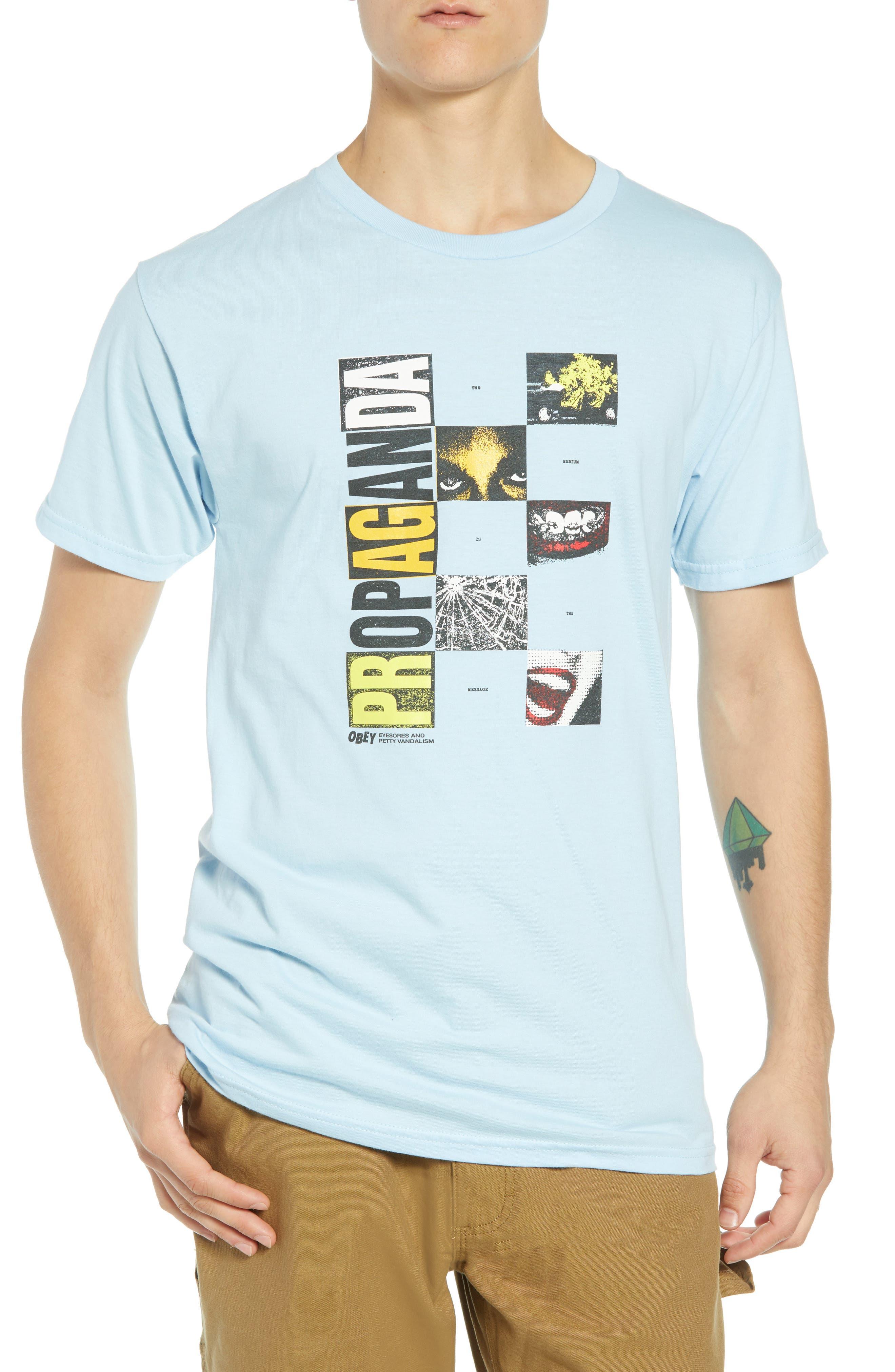 Medium is the Message Premium T-Shirt,                         Main,                         color, POWDER BLUE