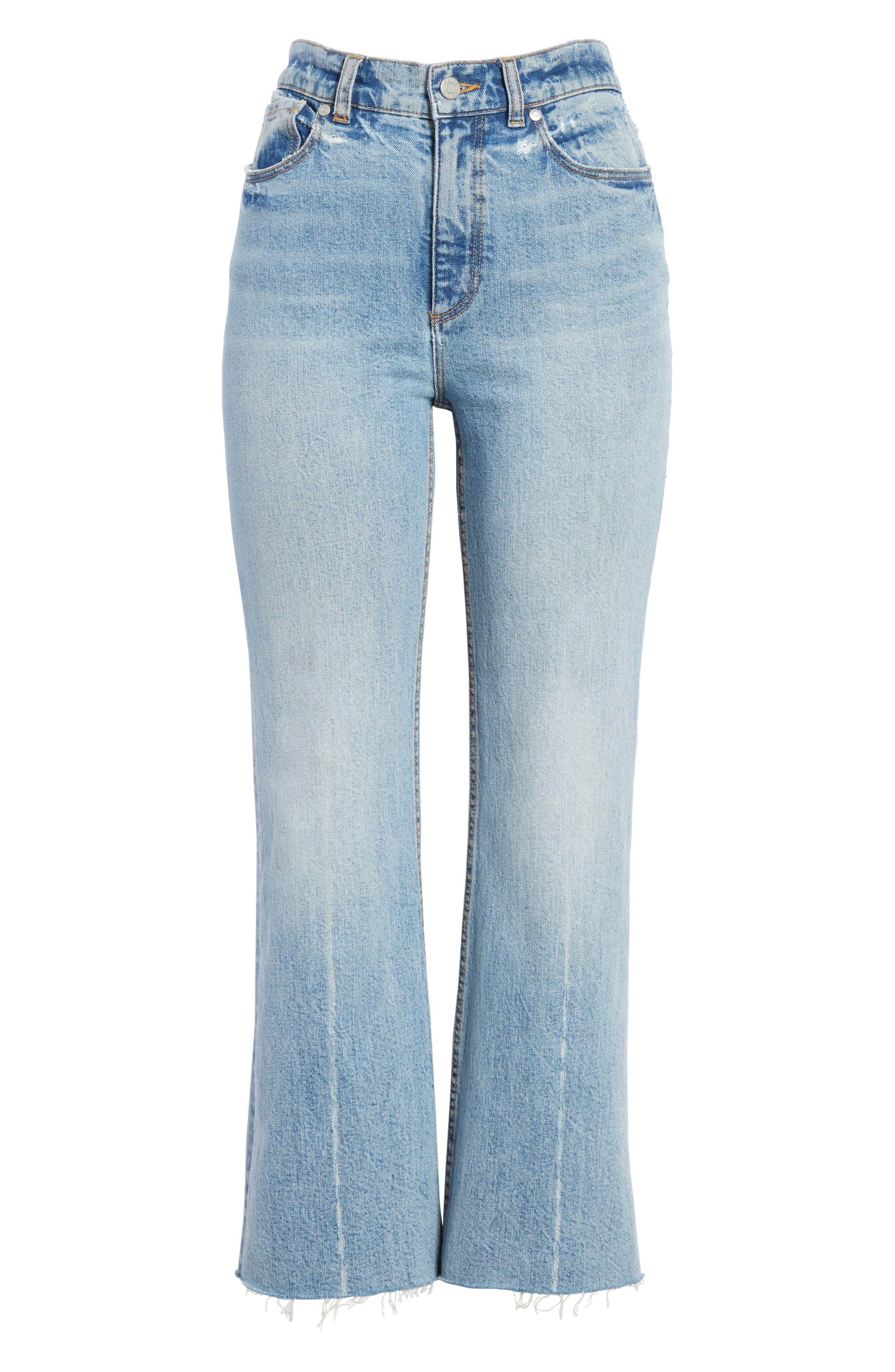 Ines Kick Bootcut Jeans,                             Alternate thumbnail 7, color,                             LEFT BANK WASH