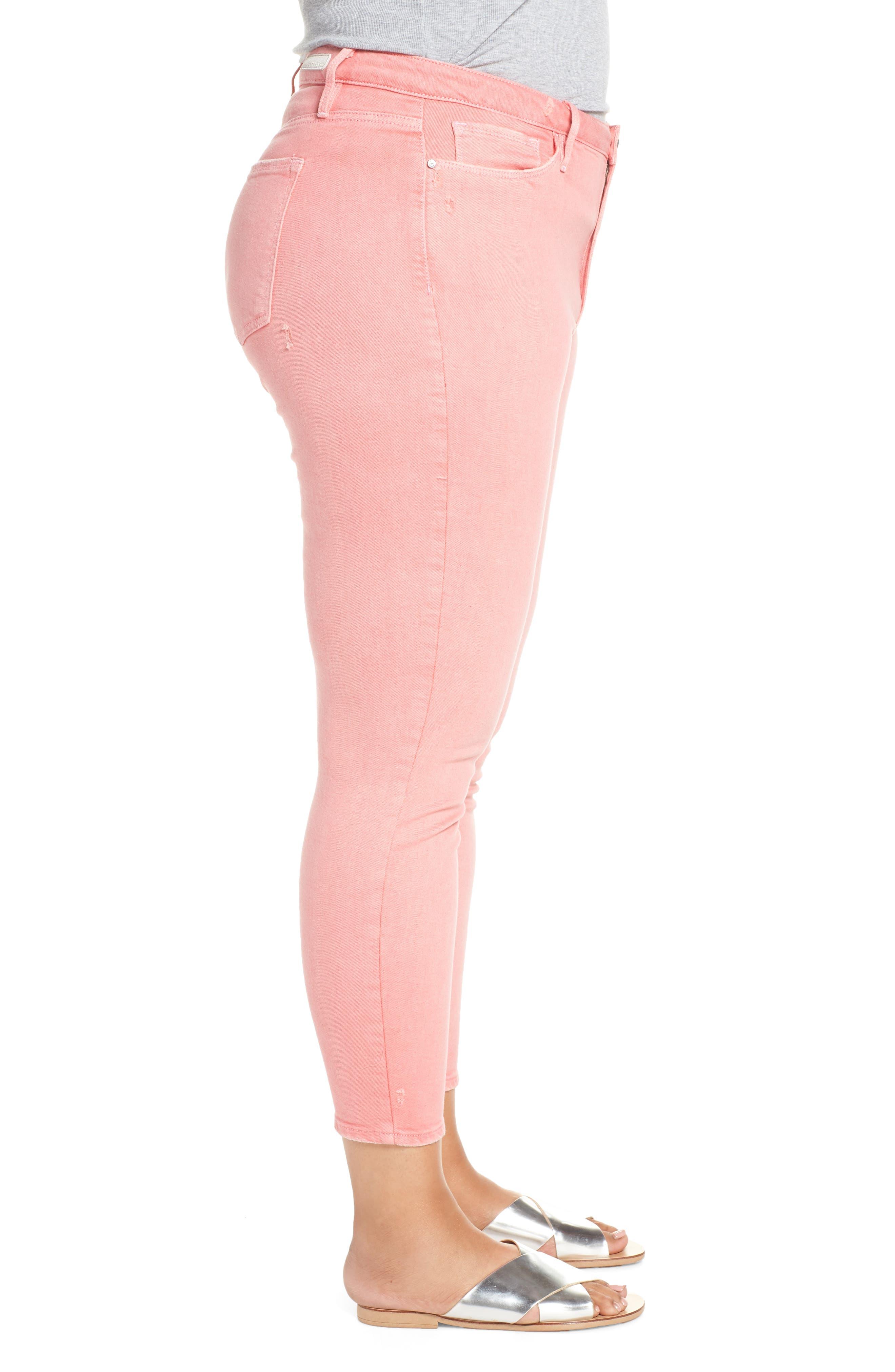 SANCTUARY,                             Social Standard Ankle Skinny Jeans,                             Alternate thumbnail 3, color,                             DK PNK FIZ