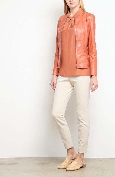 Courtney Glazed Lambskin Leather Jacket, video thumbnail