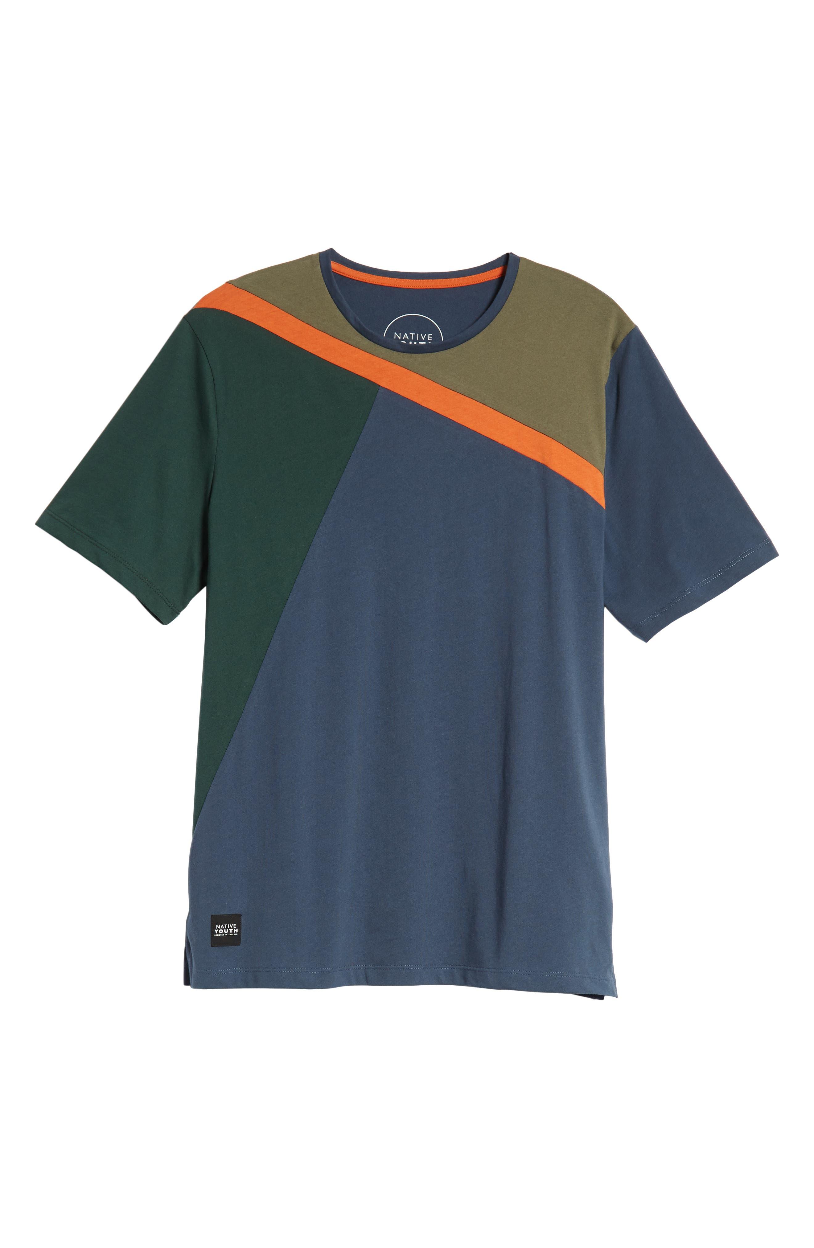 Colorblock T-Shirt,                             Alternate thumbnail 6, color,                             NAVY