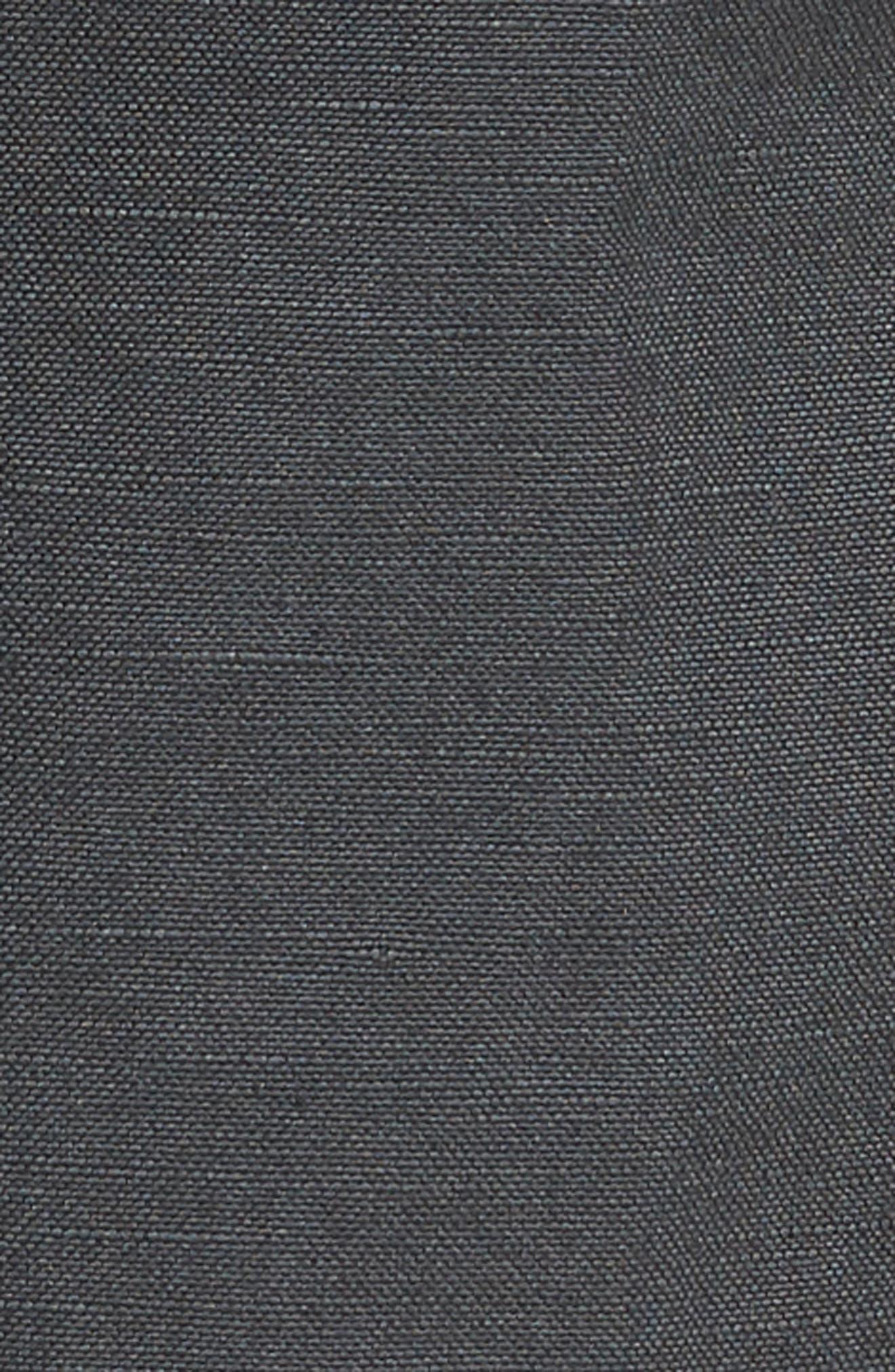 Wanderer Slim Fit Cotton & Linen Shorts,                             Alternate thumbnail 5, color,                             SULFUR SMOKE GREY