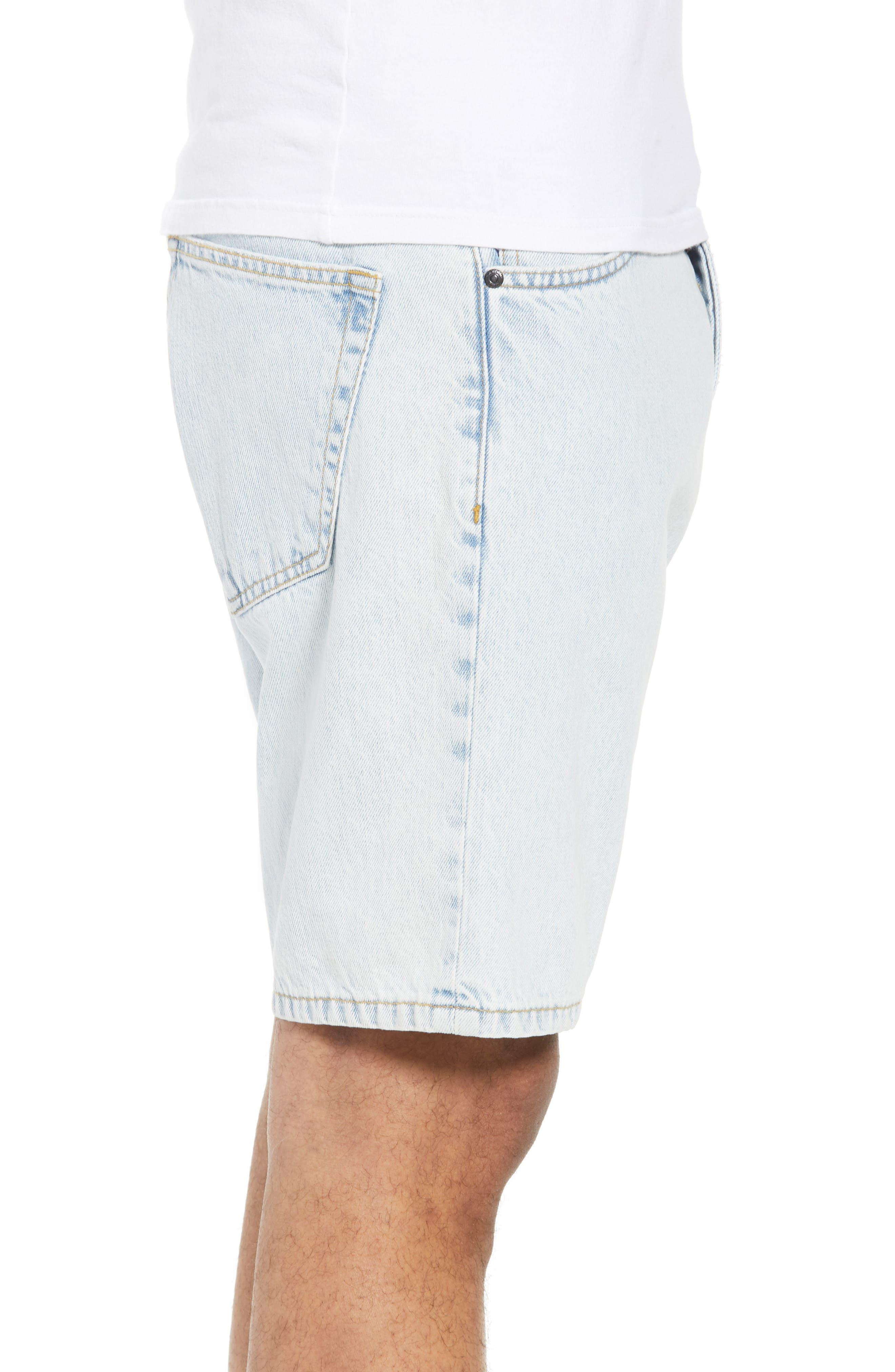 Dr. Denim Jeansmaker Bay Denim Shorts,                             Alternate thumbnail 3, color,                             WORN SUPERLIGHT BLUE