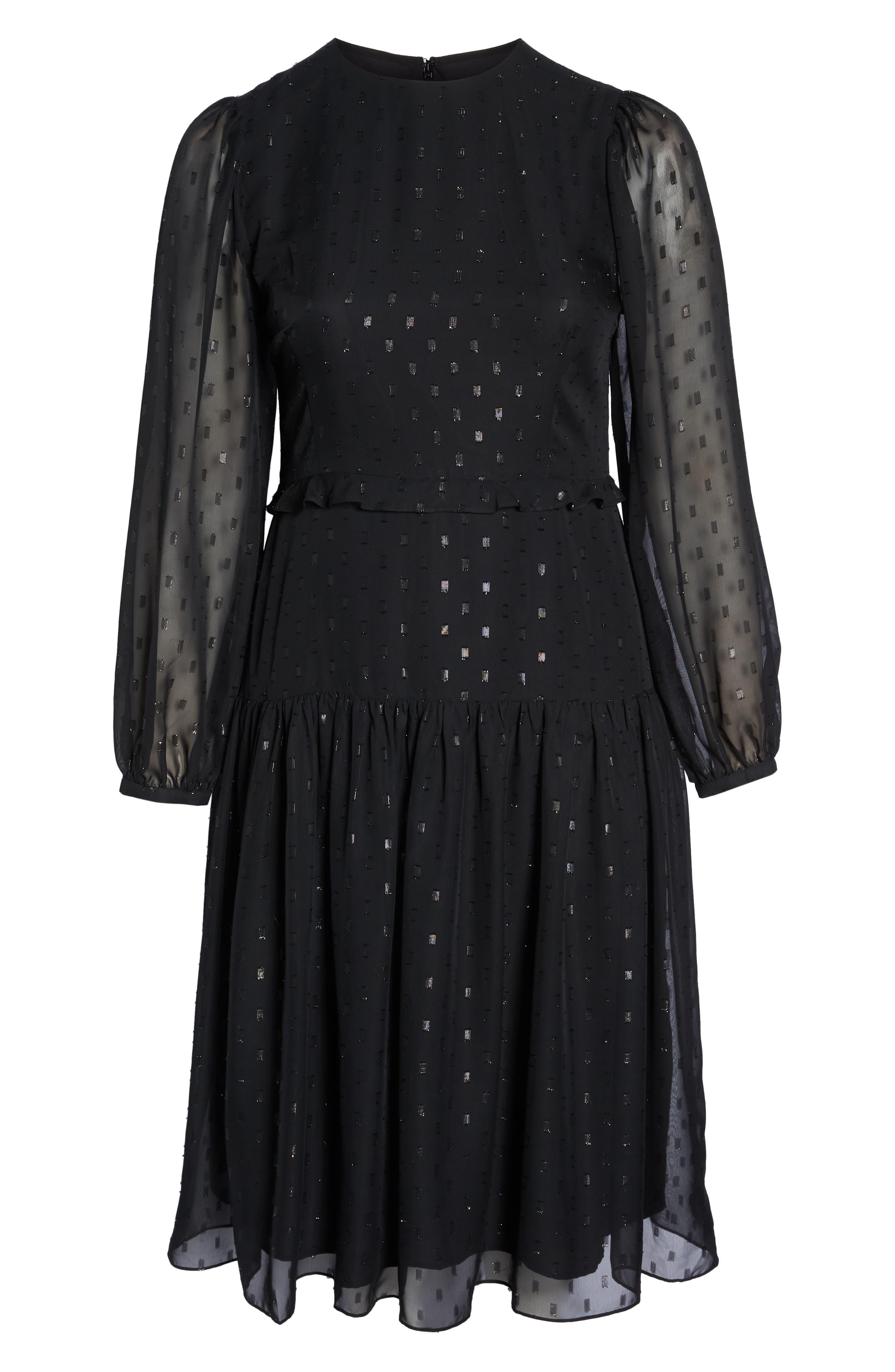 CHELSEA28, Fil Coupé Midi Dress, Alternate thumbnail 7, color, 001