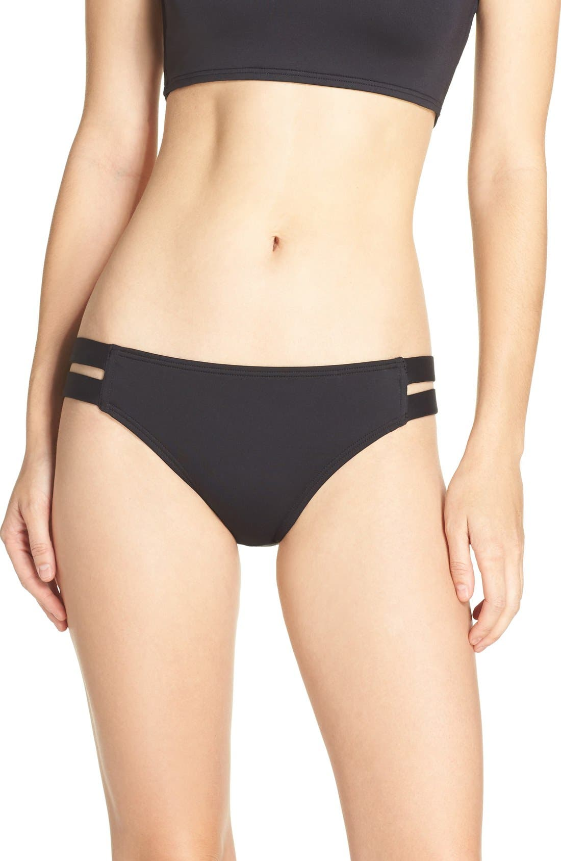 Strap Side Bikini Bottoms,                         Main,                         color,