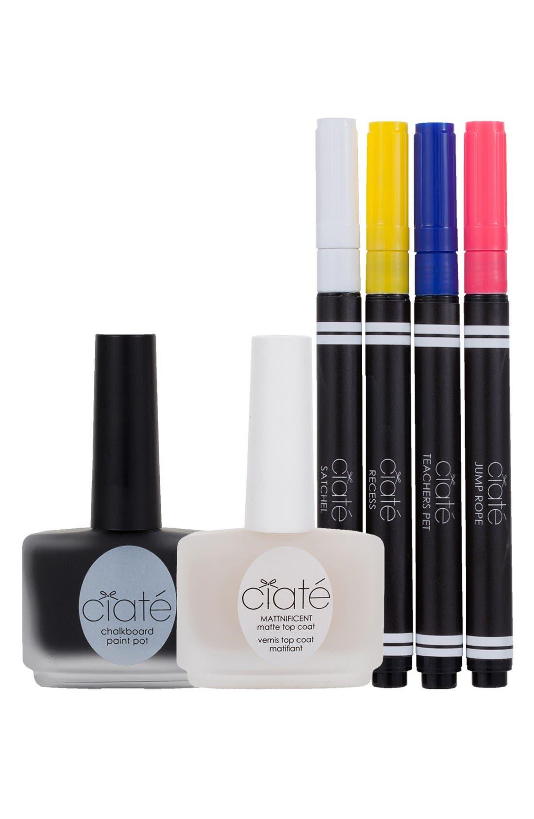 'Chalkboard' Manicure Set,                             Main thumbnail 1, color,                             650