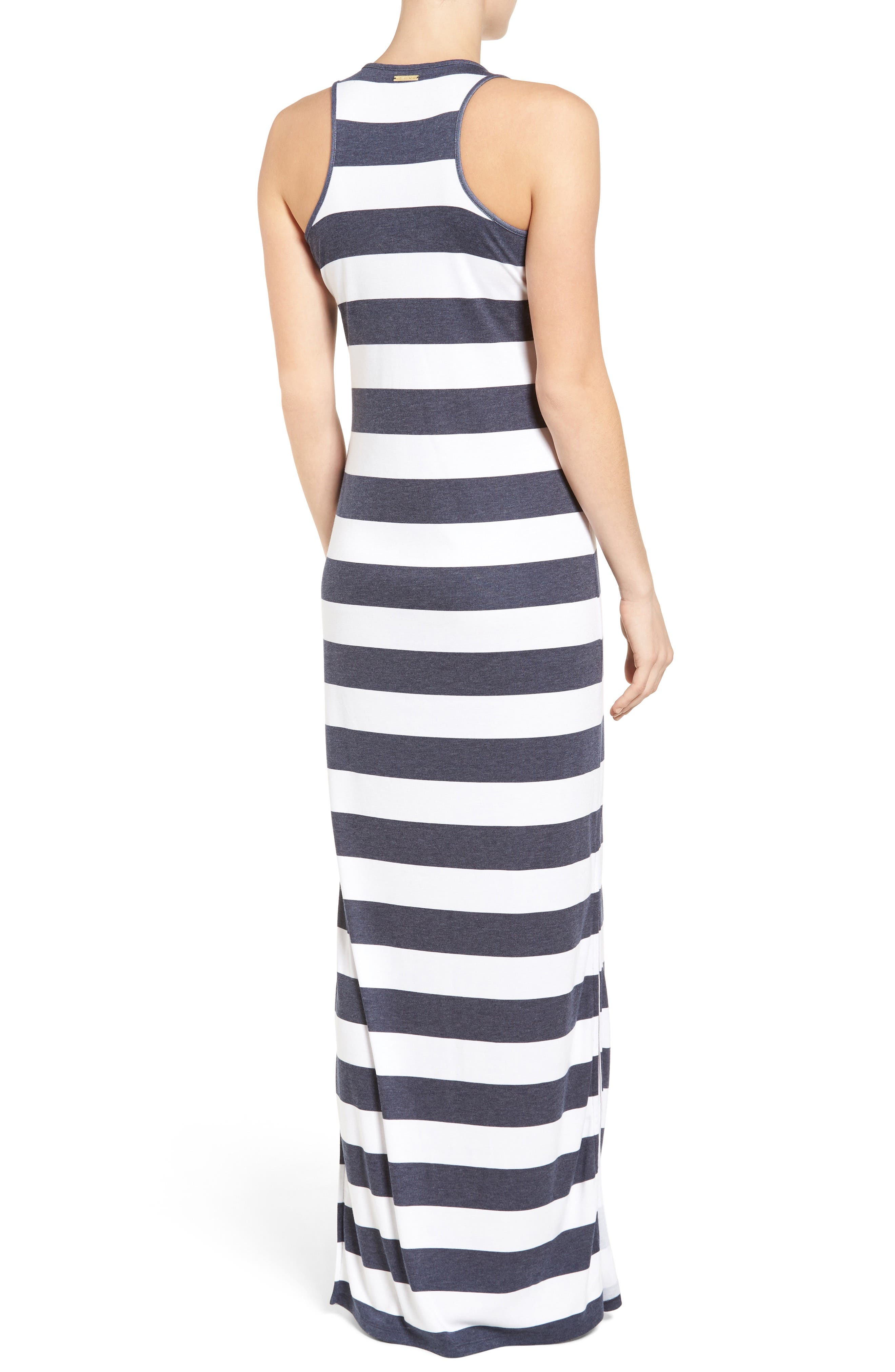 Rugby Stripe Tank Maxi Dress,                             Alternate thumbnail 2, color,                             427