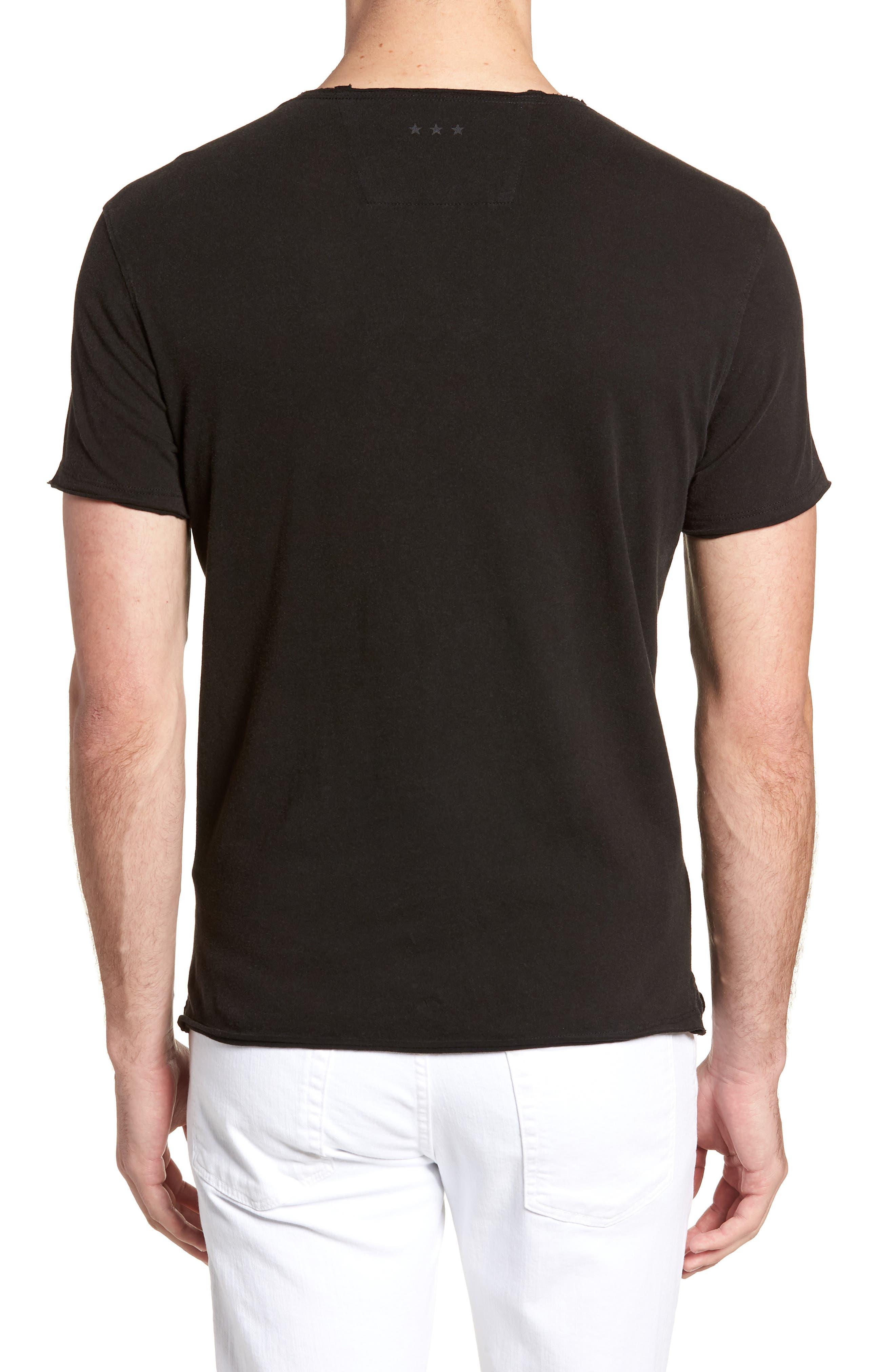 Skull Flag Crewneck T-Shirt,                             Alternate thumbnail 2, color,                             001