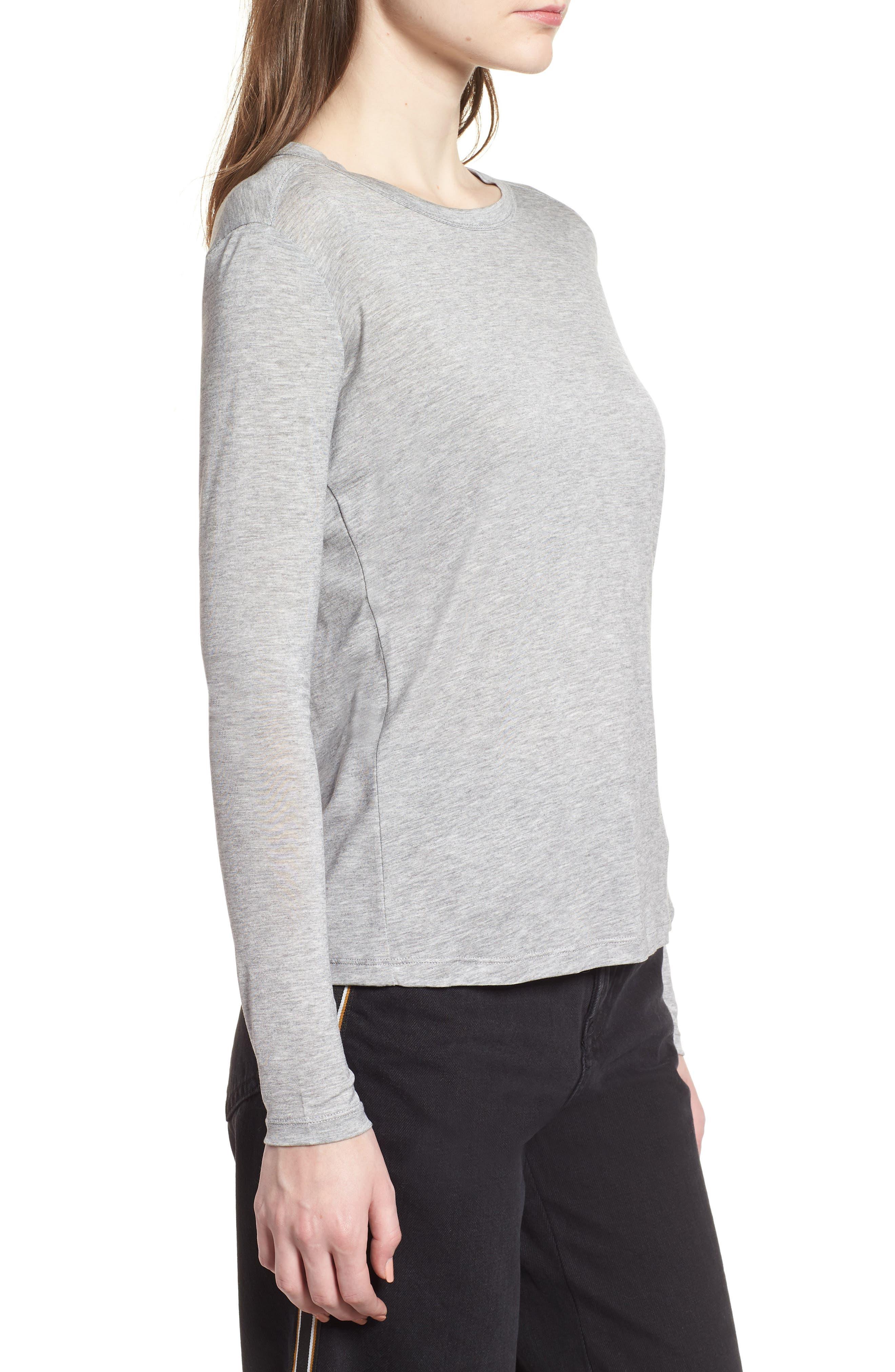 Lyocell Long Sleeve T-Shirt,                             Alternate thumbnail 6, color,