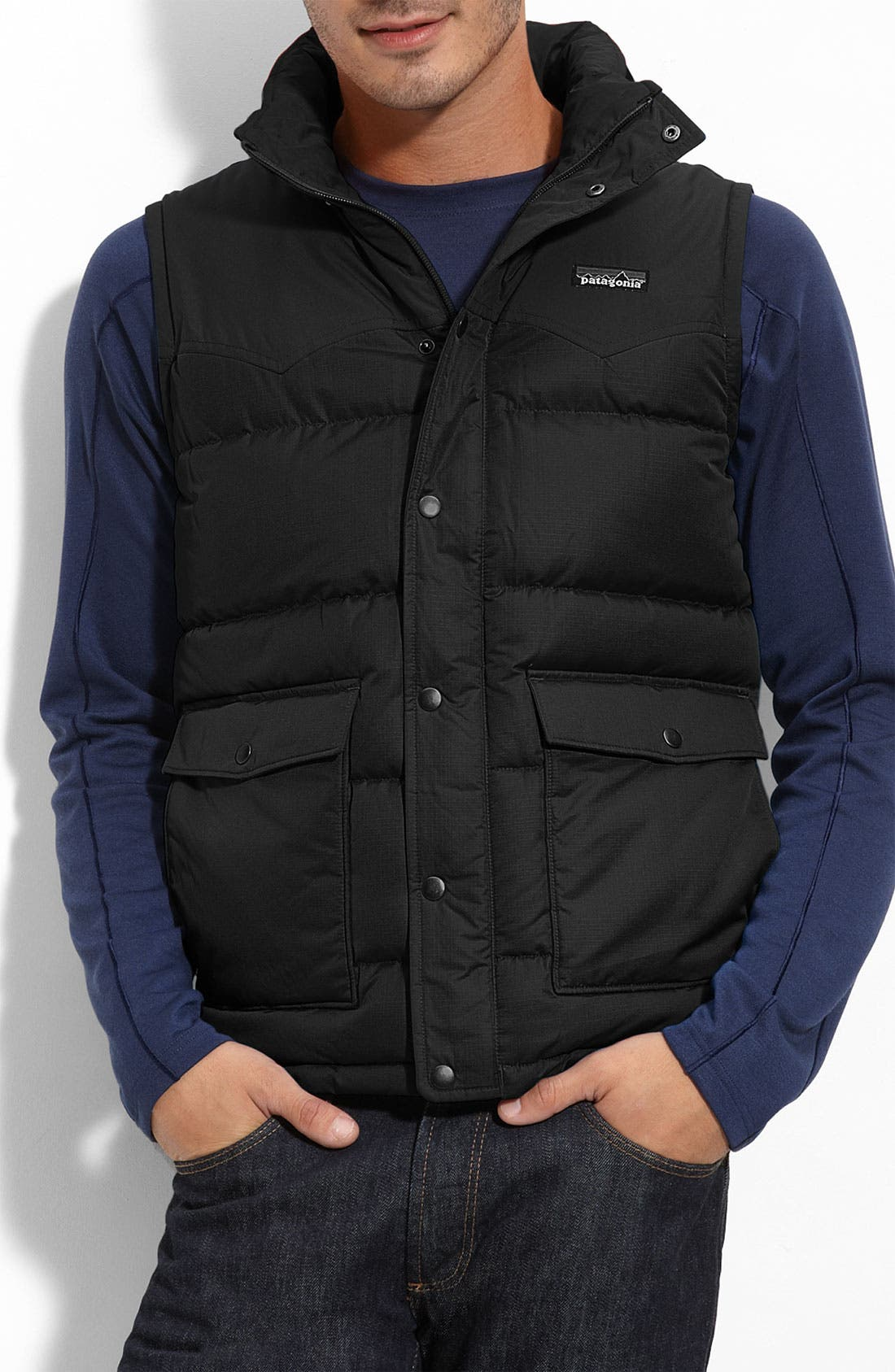 'Slingshot' Down Vest, Main, color, 001