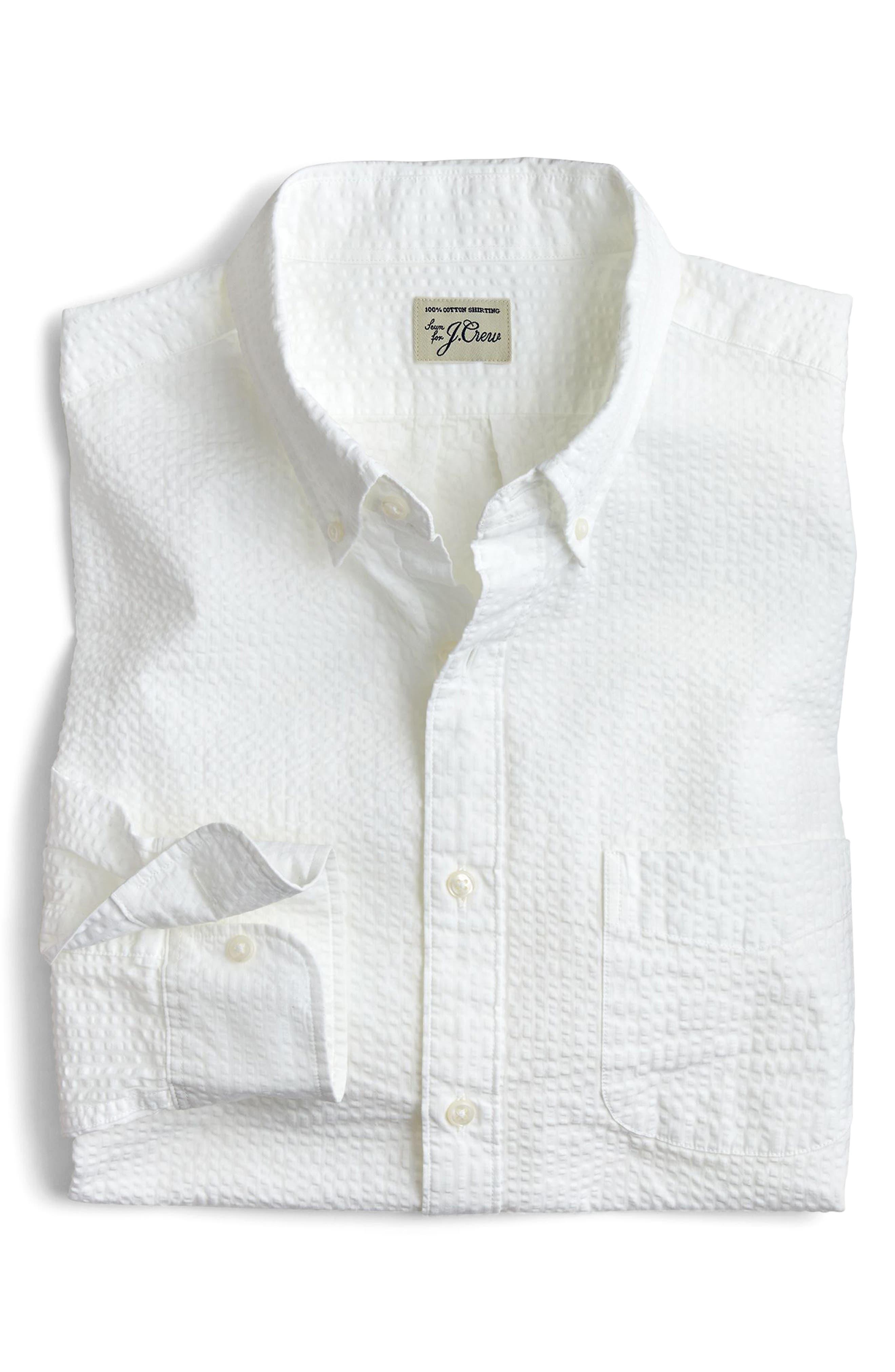 Seersucker Sport Shirt,                             Main thumbnail 1, color,                             100