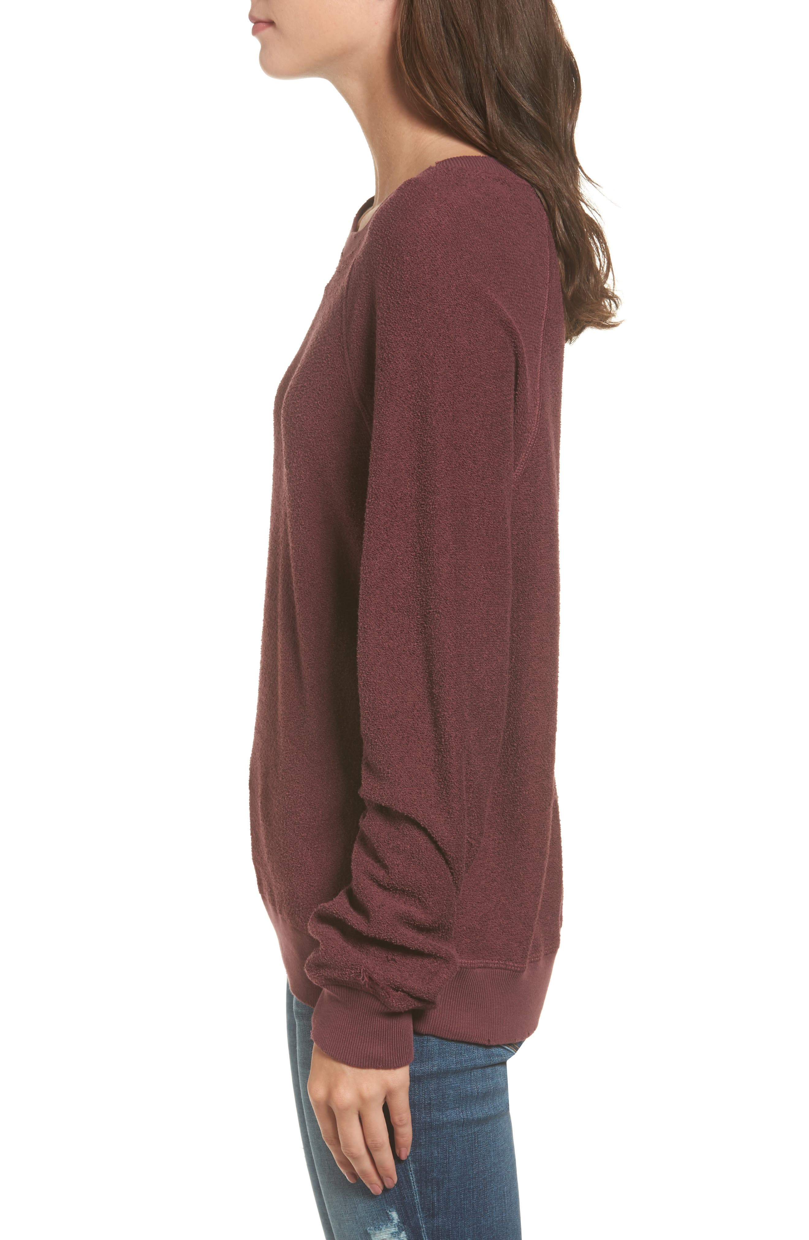 Holden Reverse Distressed Sweatshirt,                             Alternate thumbnail 3, color,                             930