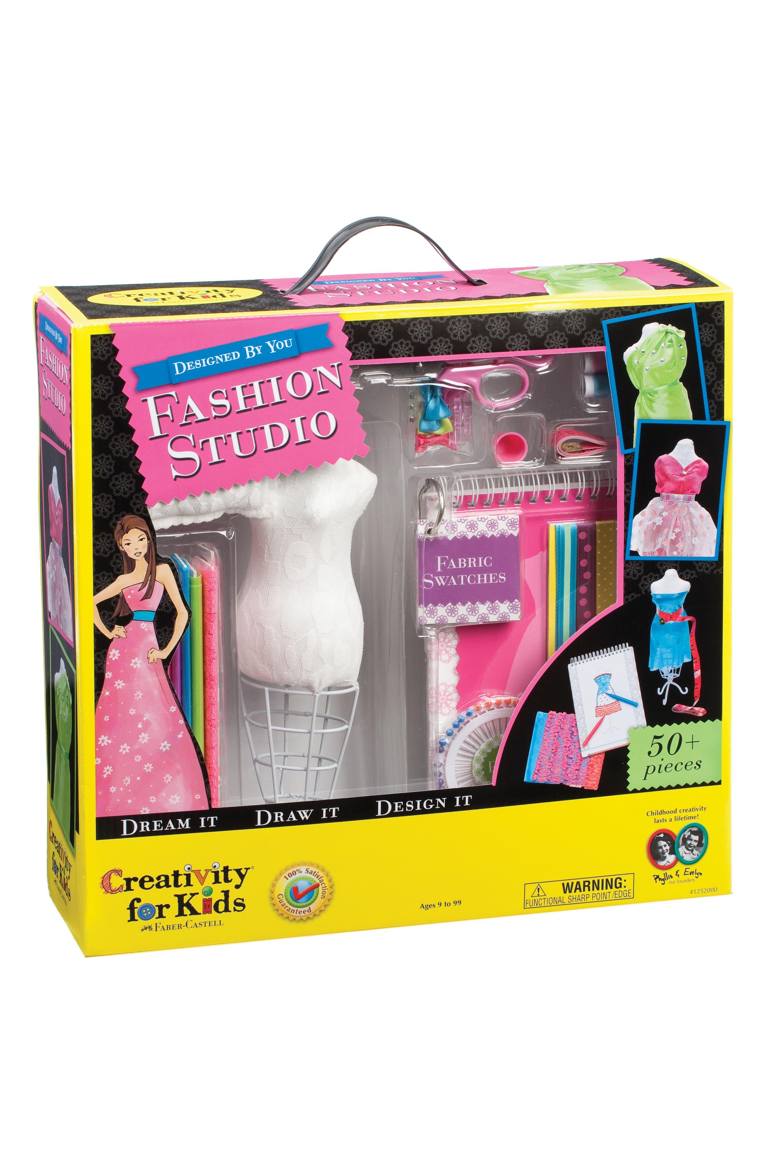 Designed by You Fashion Studio Set,                         Main,                         color, WHITE