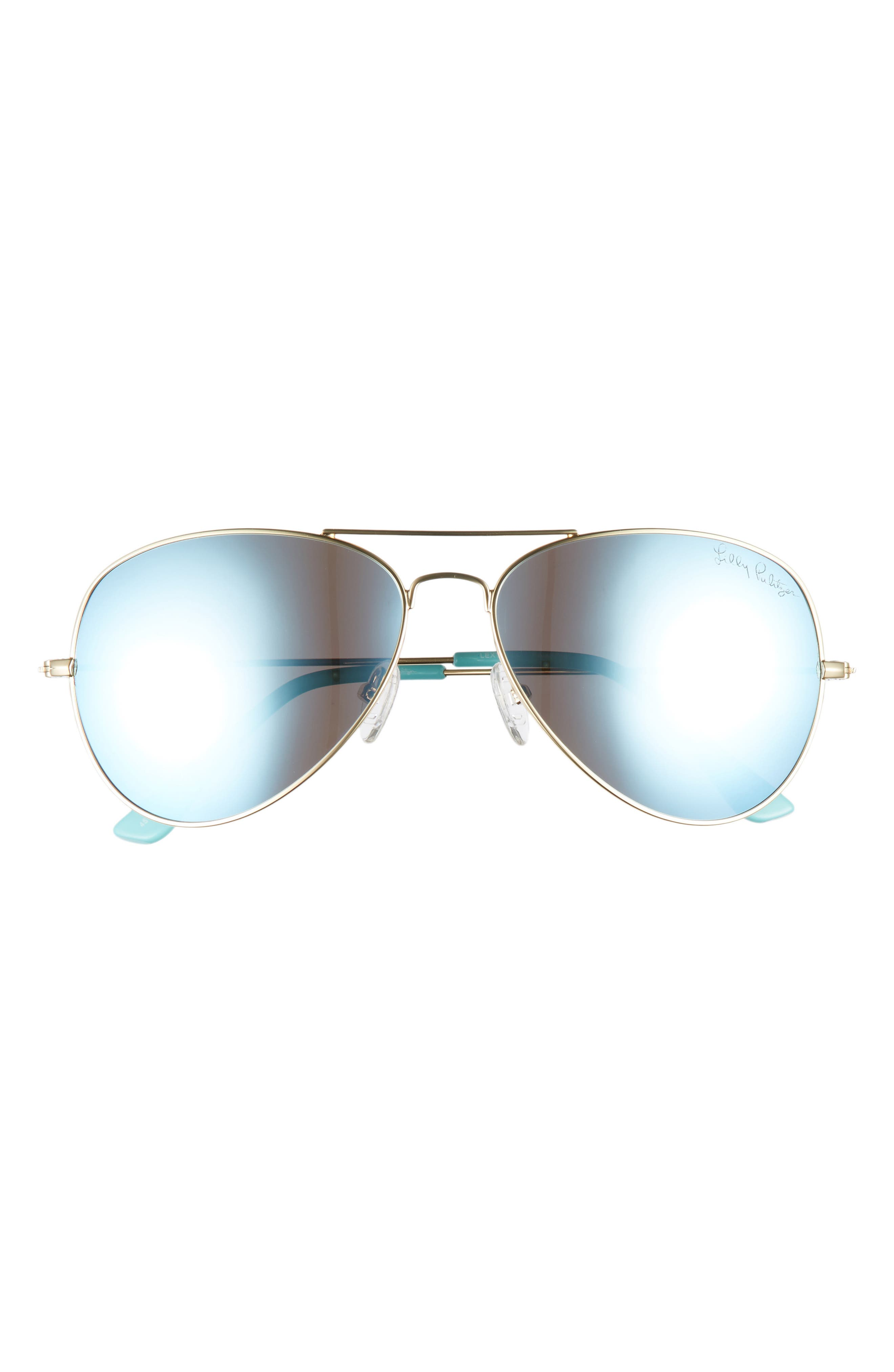 Lexy 59mm Polarized Aviator Sunglasses,                             Alternate thumbnail 3, color,                             BLUE 2