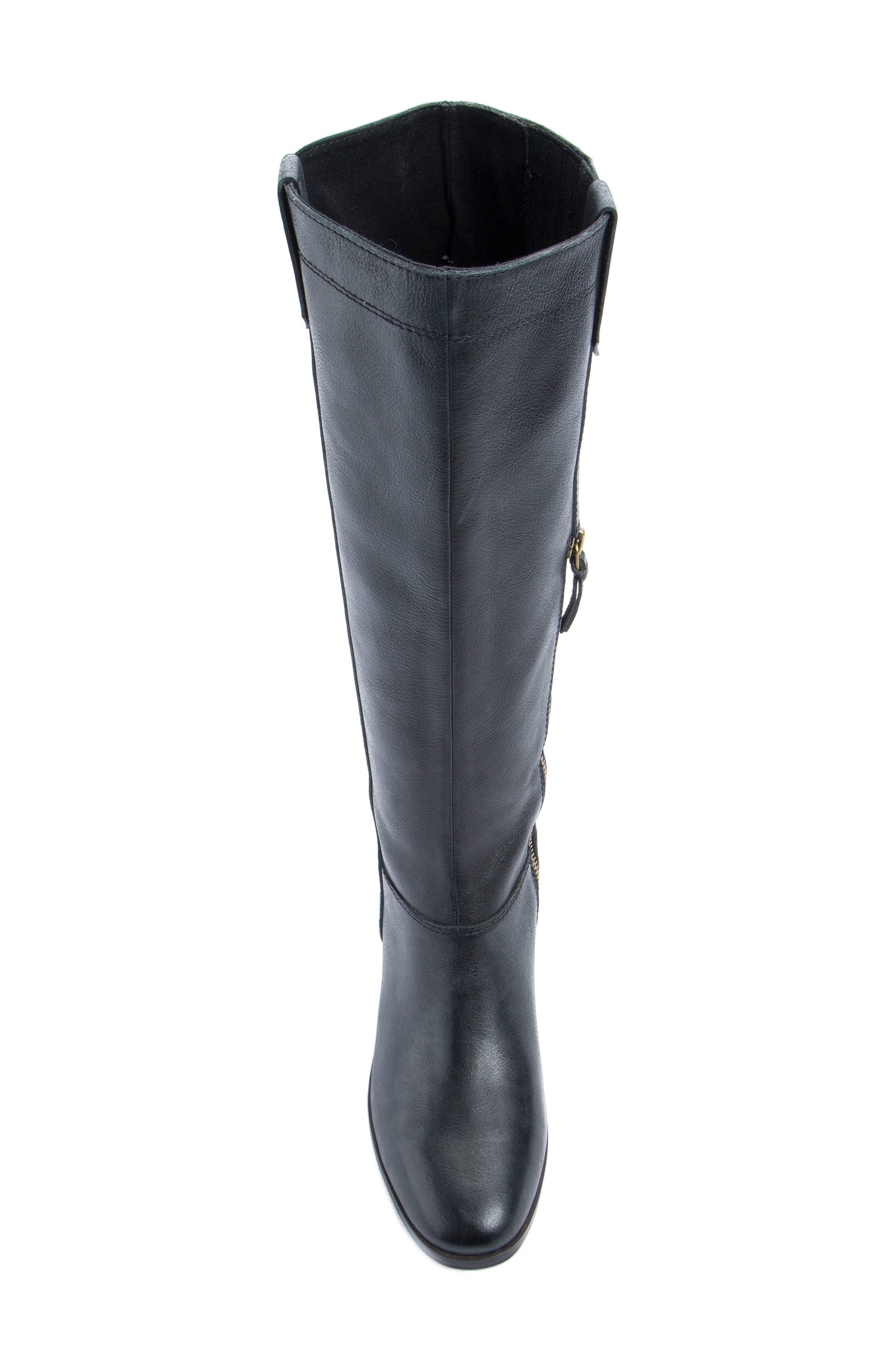 Diggity Knee-High Boot,                             Alternate thumbnail 4, color,                             001