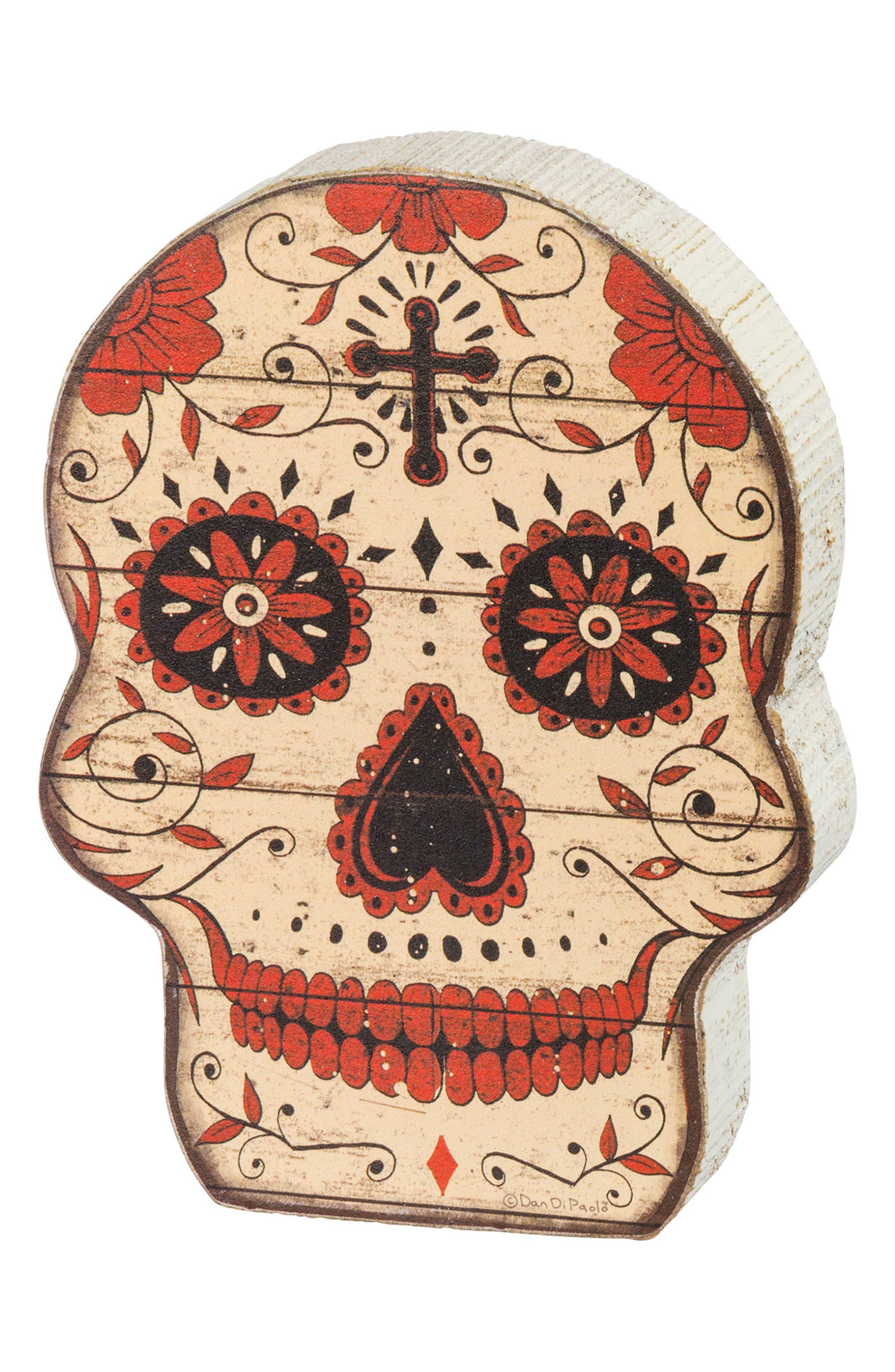 Dimensional Sugar Skull,                             Main thumbnail 1, color,                             900