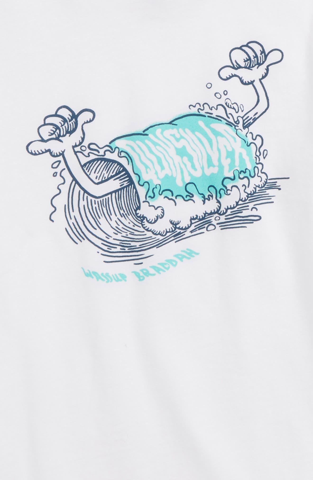 Wassup Braddah T-Shirt,                             Alternate thumbnail 2, color,                             WHITE