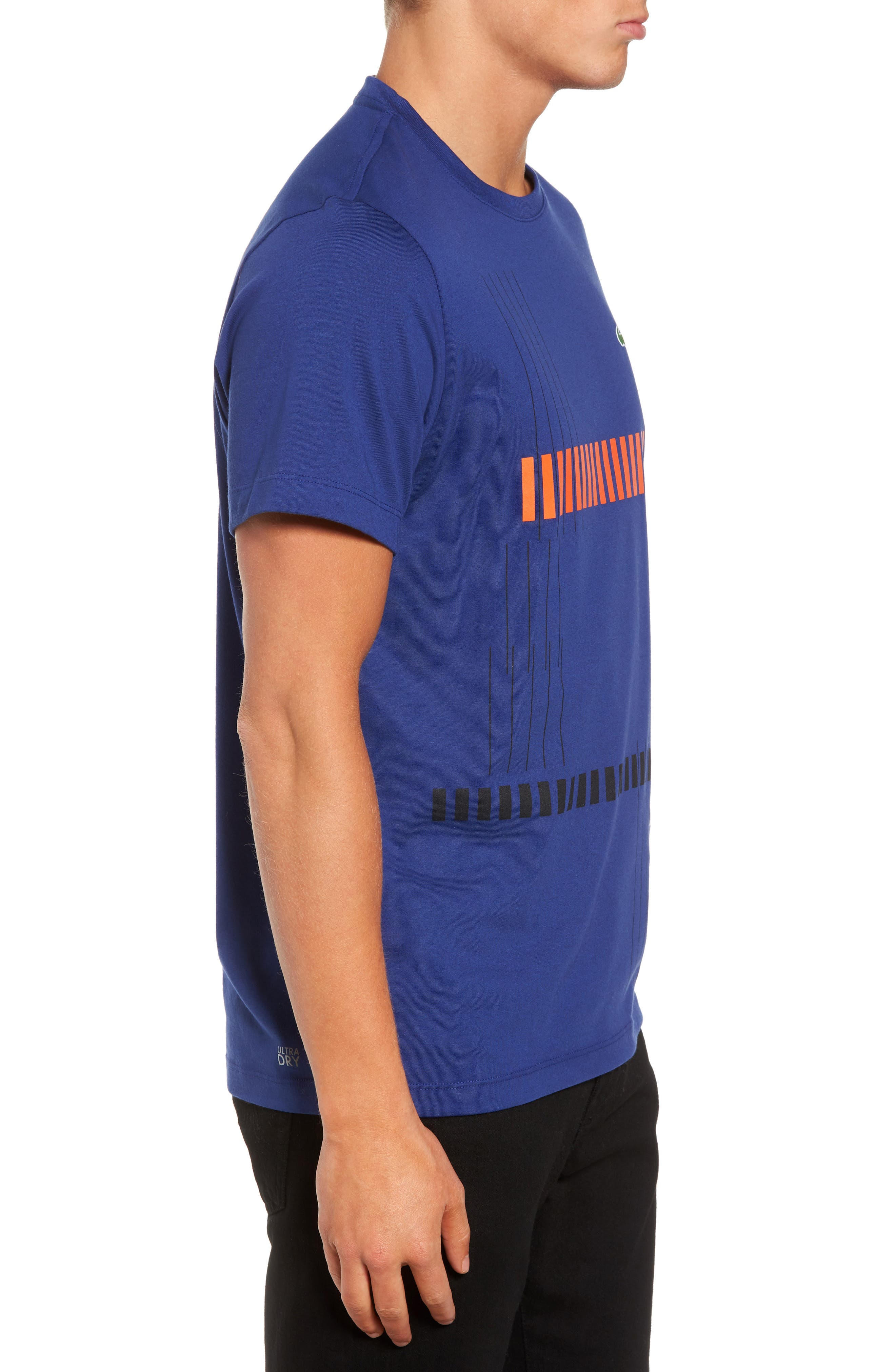 Tech Vertical Stripe Graphic T-Shirt,                             Alternate thumbnail 9, color,