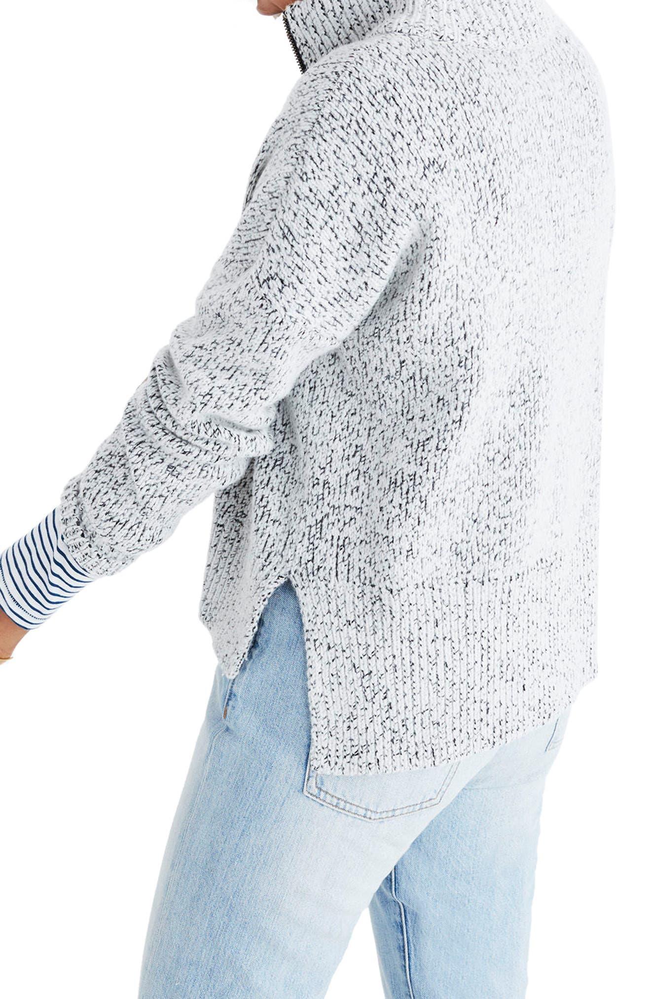 Marled Half Zip Sweater,                             Alternate thumbnail 3, color,                             020