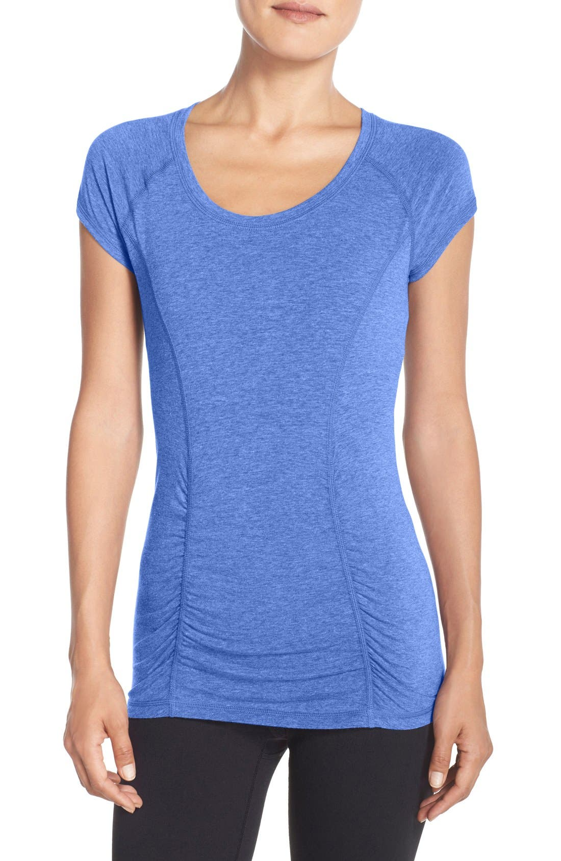 'Z 6' Ruched Tee,                             Main thumbnail 7, color,