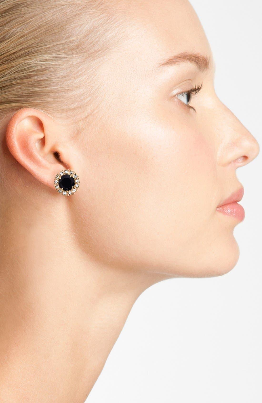 'secret garden' mixed stone stud earrings,                             Alternate thumbnail 3, color,                             001