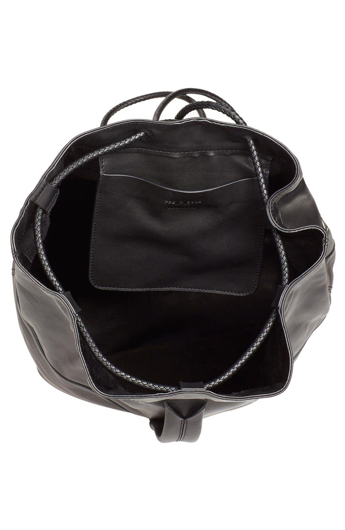 'Walker' Leather Backpack,                             Alternate thumbnail 6, color,                             001