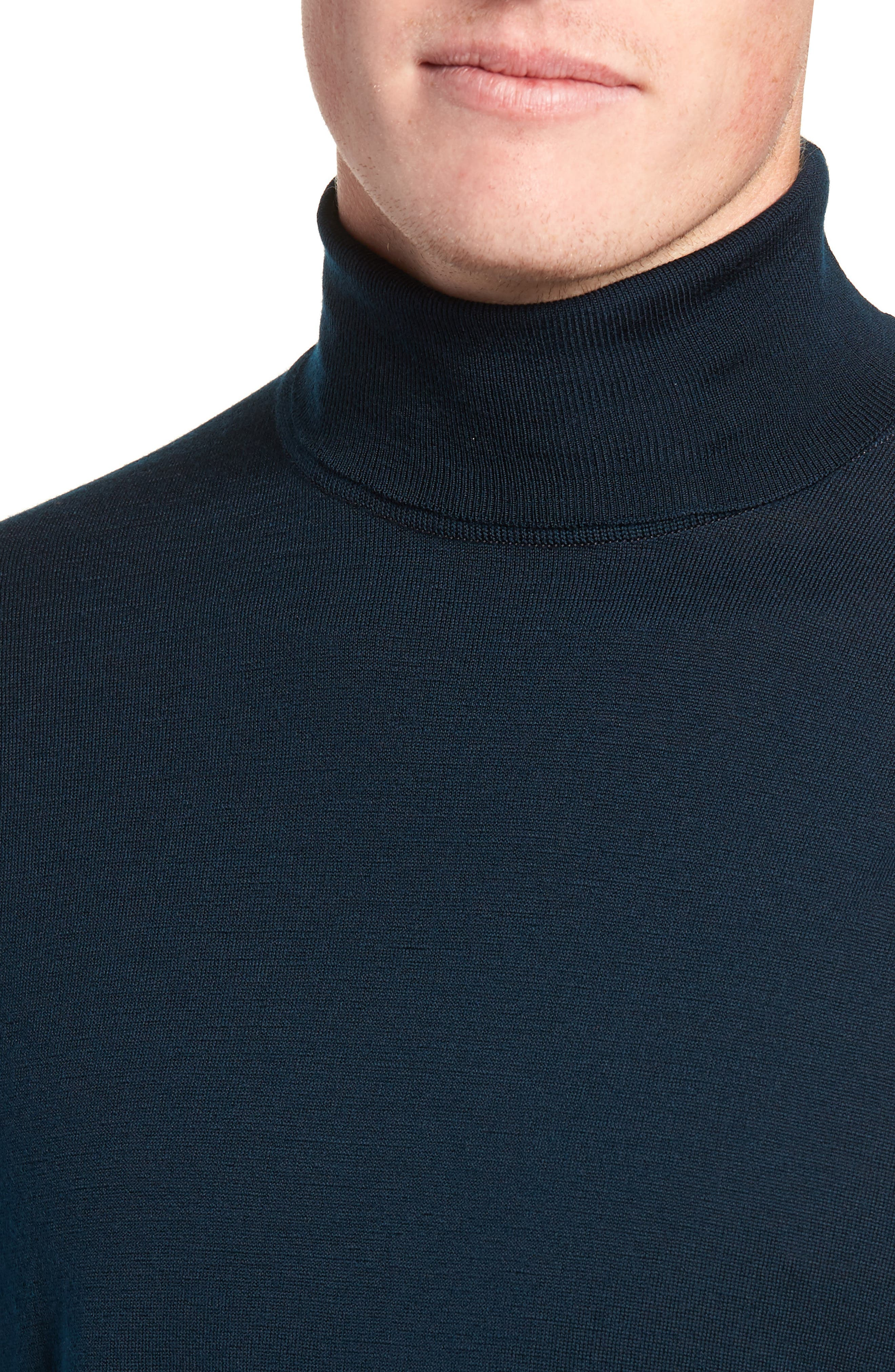 'Richards' Easy Fit Turtleneck Wool Sweater,                             Alternate thumbnail 27, color,
