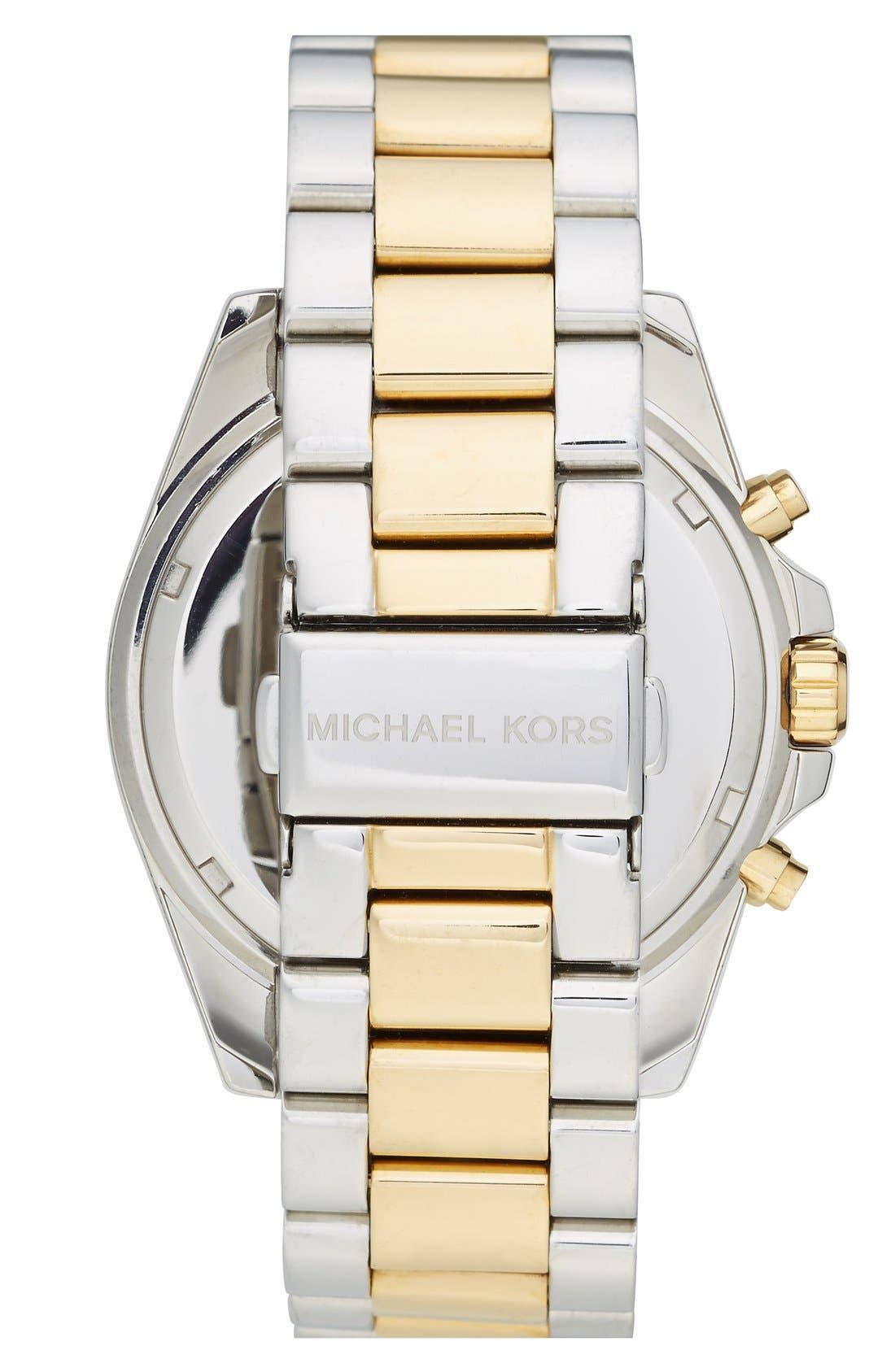 Michael Kors 'Bailey' Chronograph Bracelet Watch, 39mm,                             Alternate thumbnail 6, color,                             040