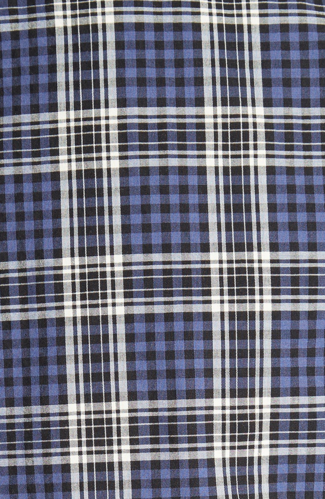 Trim Fit Plaid Sport Shirt,                             Alternate thumbnail 5, color,                             400