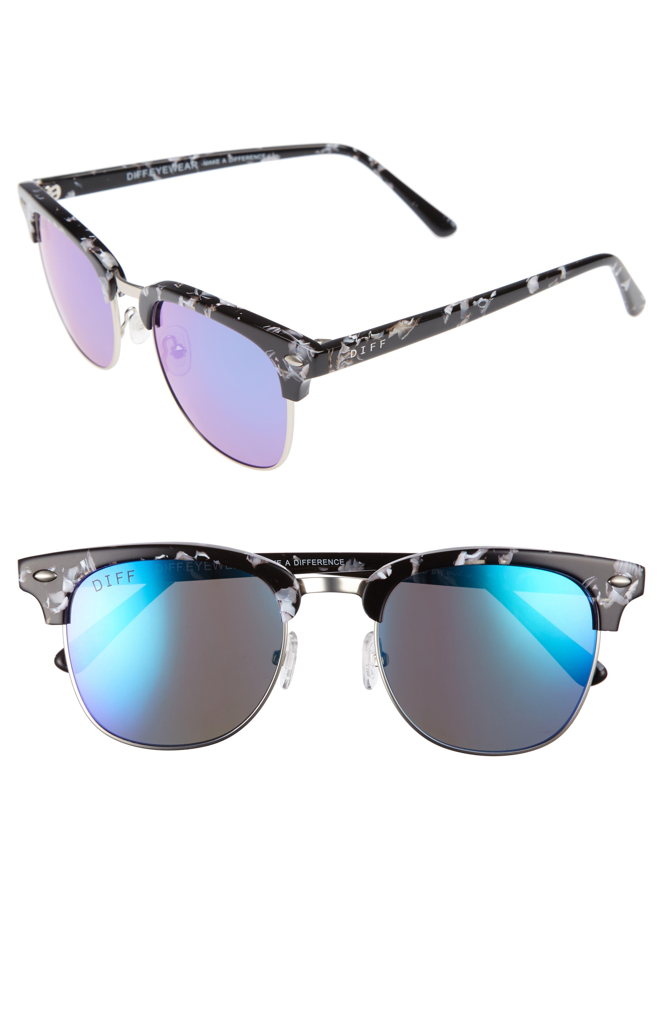 Barry 51mm Polarized Retro Sunglasses,                             Main thumbnail 2, color,