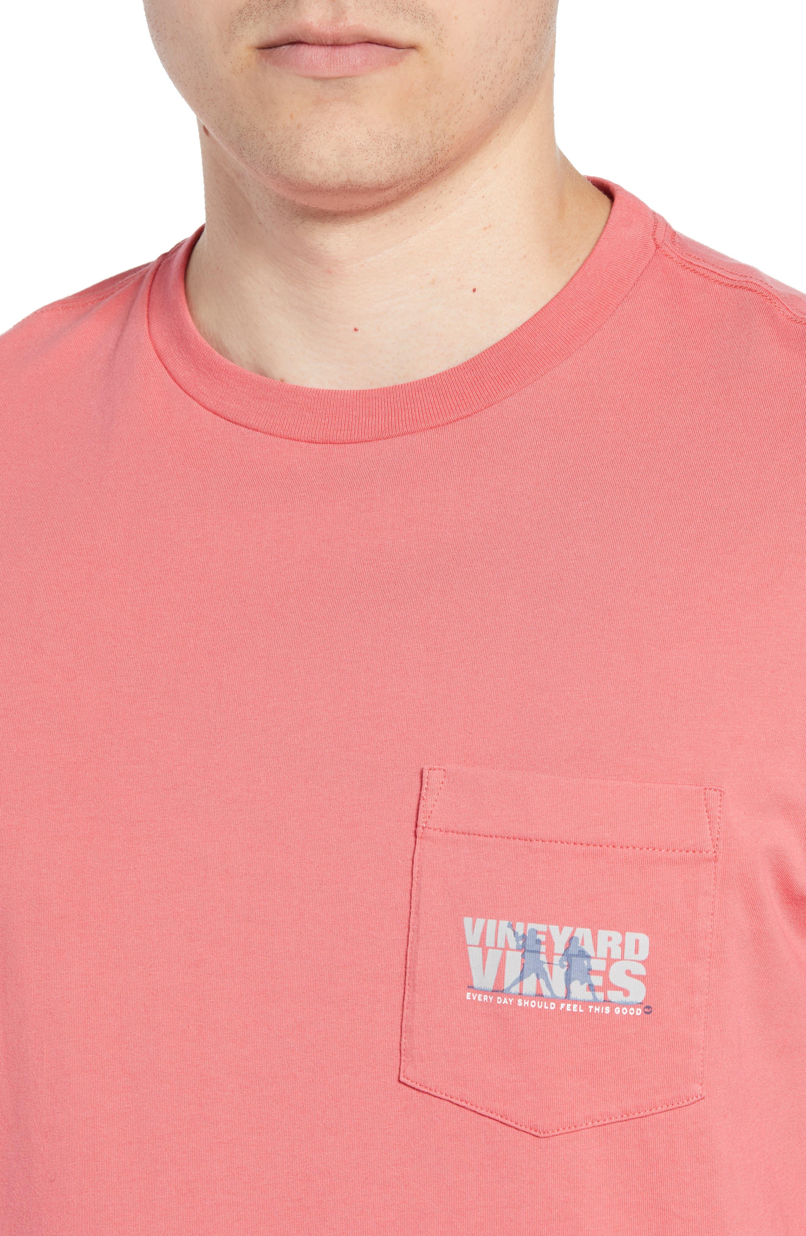 Knockout Lacrosse Pocket T-Shirt,                             Alternate thumbnail 4, color,                             SAILORS RED
