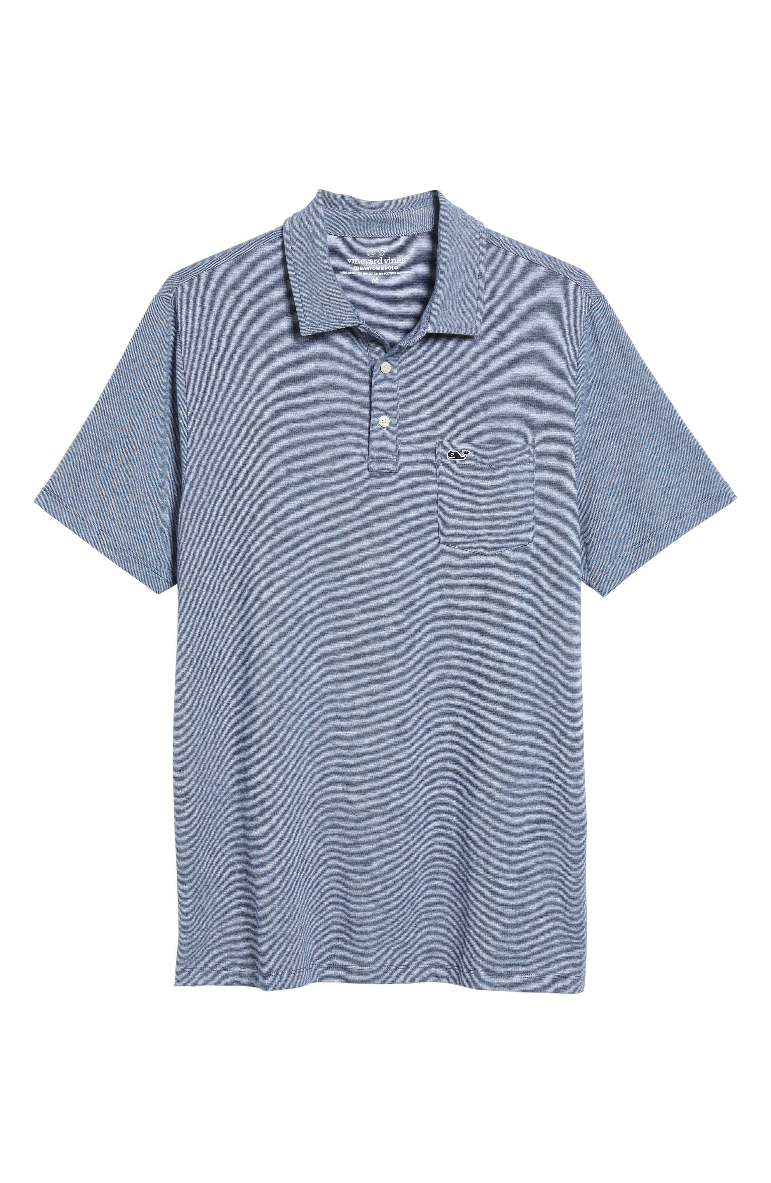 VINEYARD VINES,                             Edgartown Polo Shirt,                             Alternate thumbnail 6, color,                             DEEP BAY
