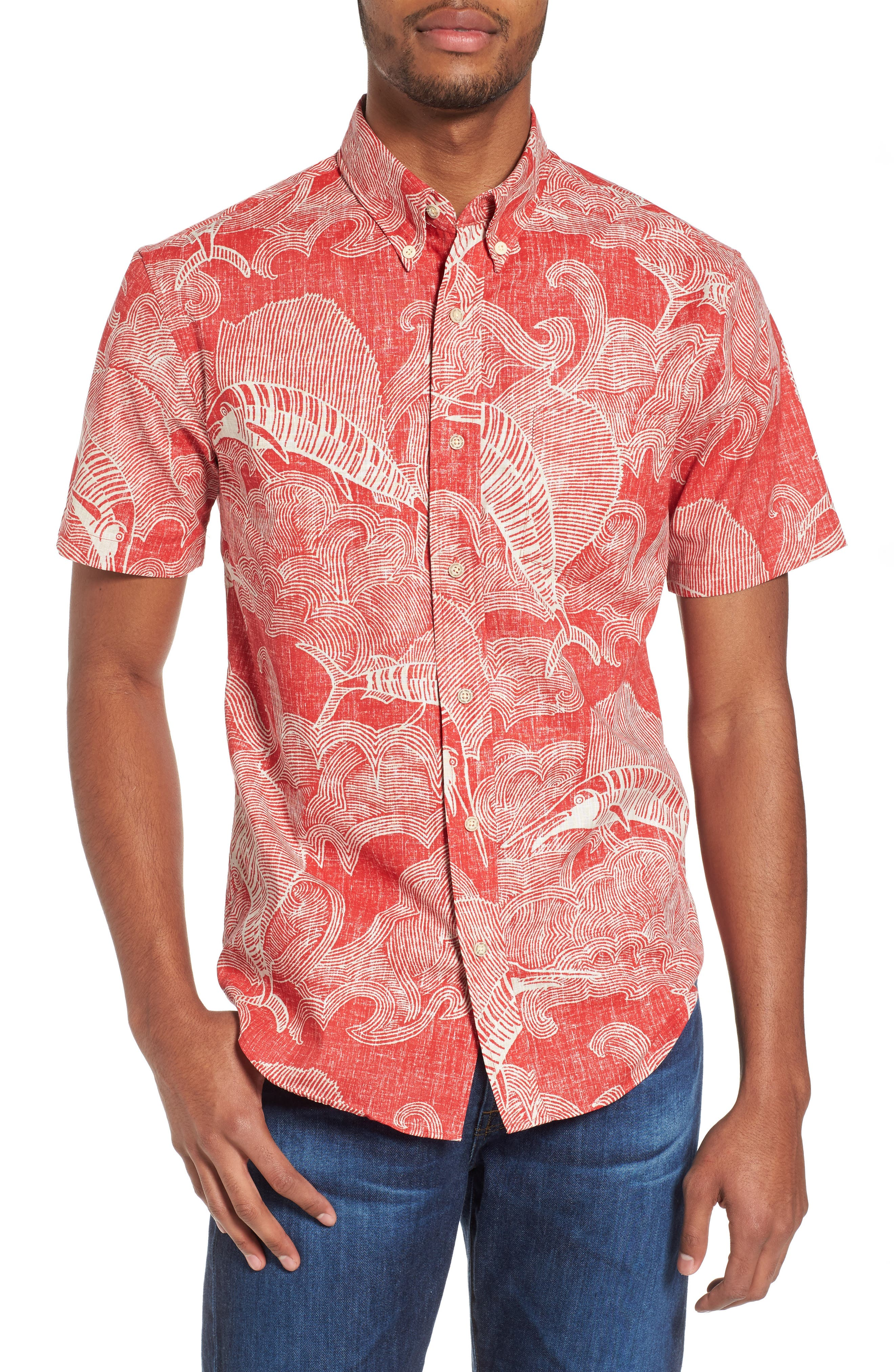The Search Tailored Fit Print Sport Shirt,                         Main,                         color, 622