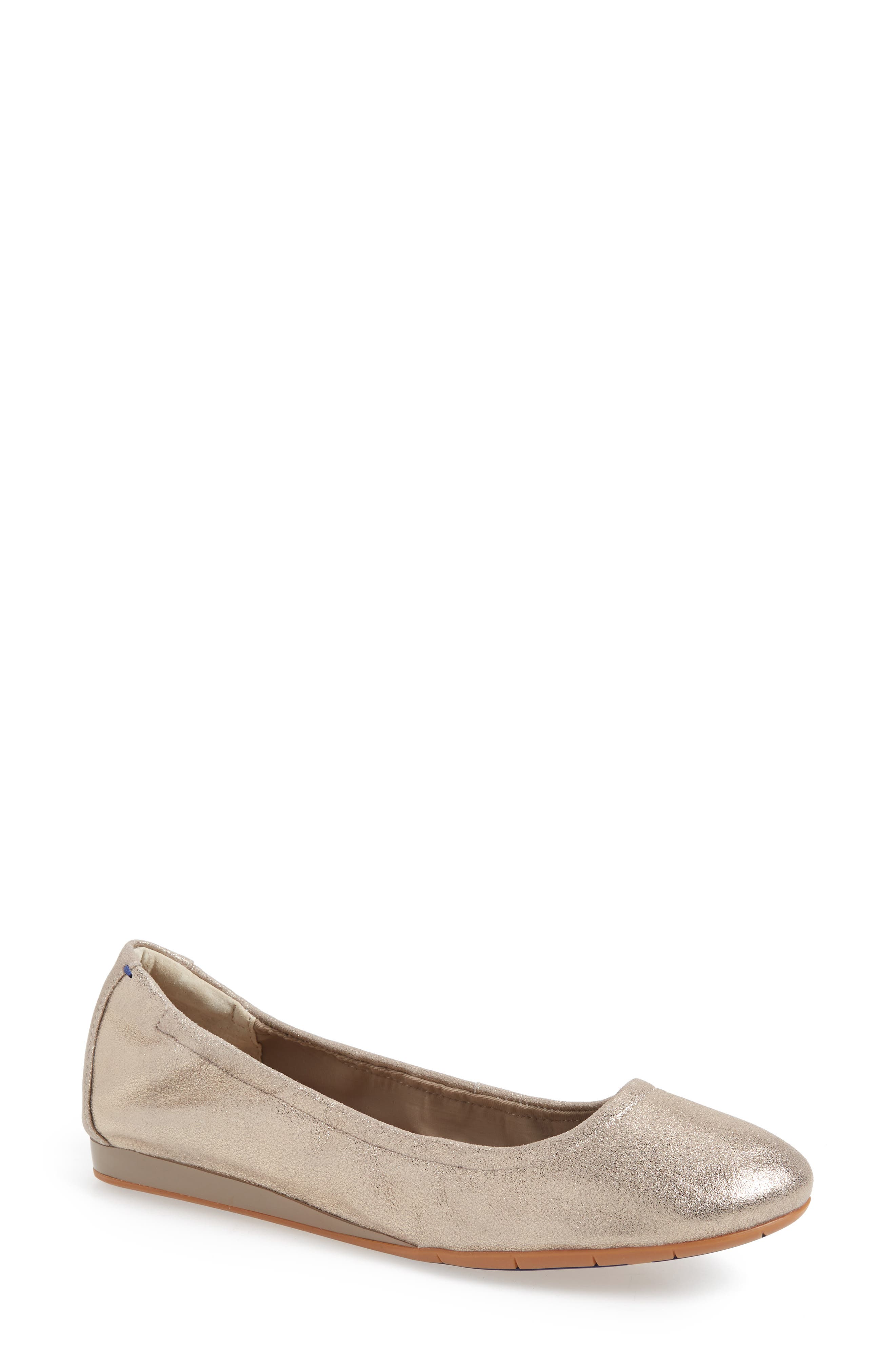 Helena Flat,                             Main thumbnail 1, color,                             TAUPE NUBUCK LEATHER