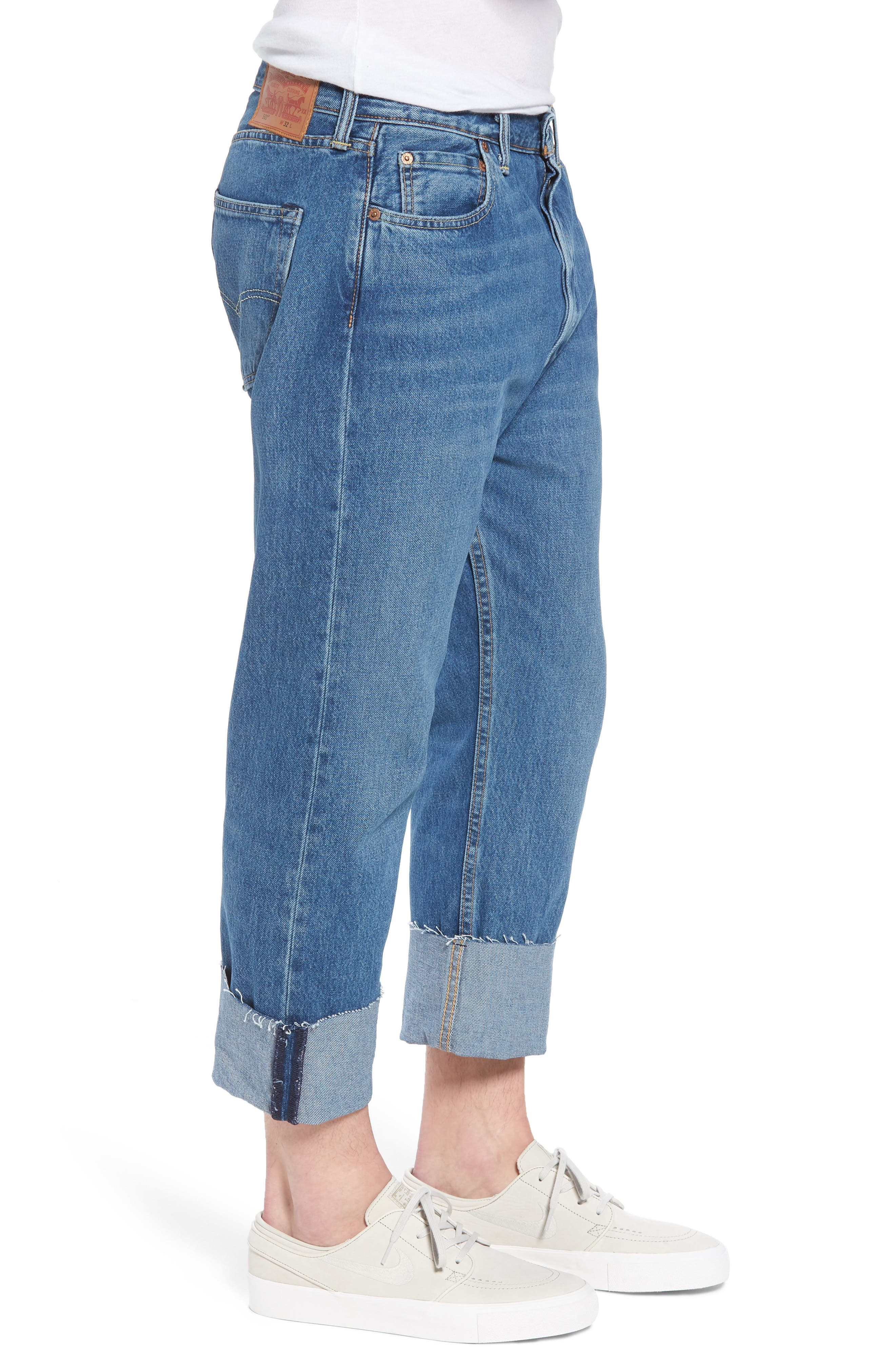 501<sup>™</sup> Straight Leg Jeans,                             Alternate thumbnail 3, color,                             420