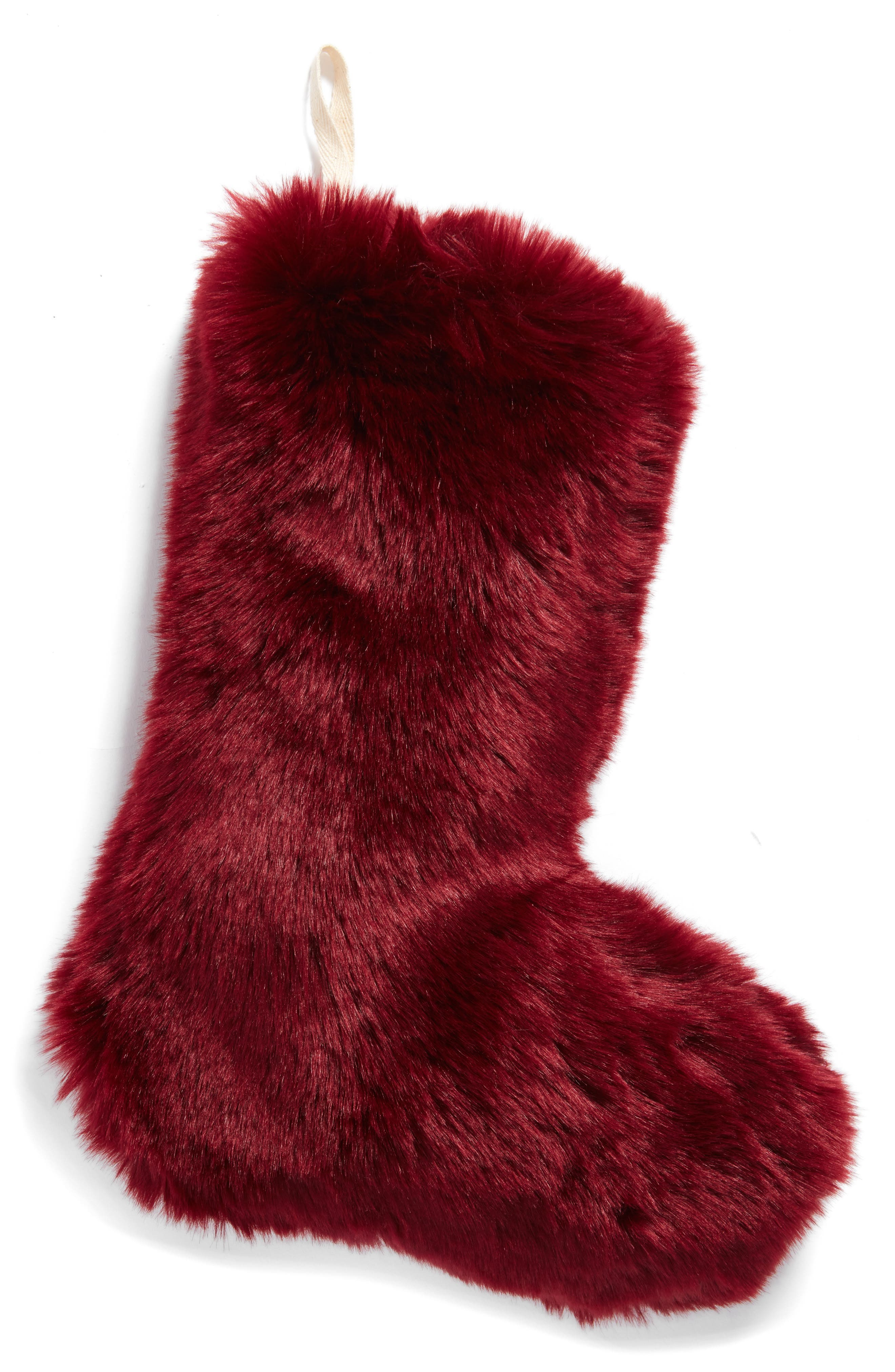 'Cuddle Up' Faux Fur Christmas Stocking,                             Main thumbnail 6, color,