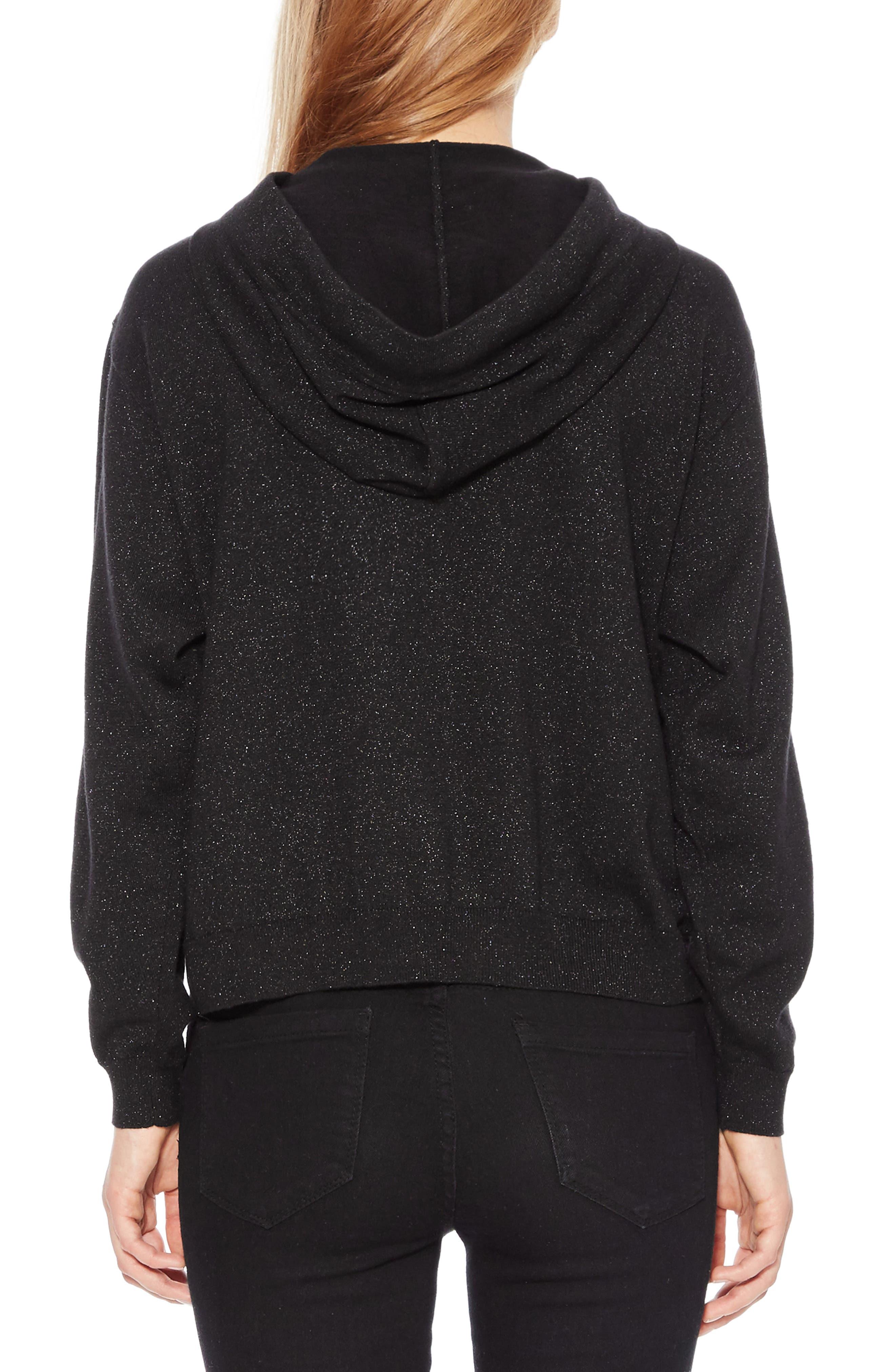 Nolan Sequin Hooded Sweatshirt,                             Alternate thumbnail 2, color,                             001