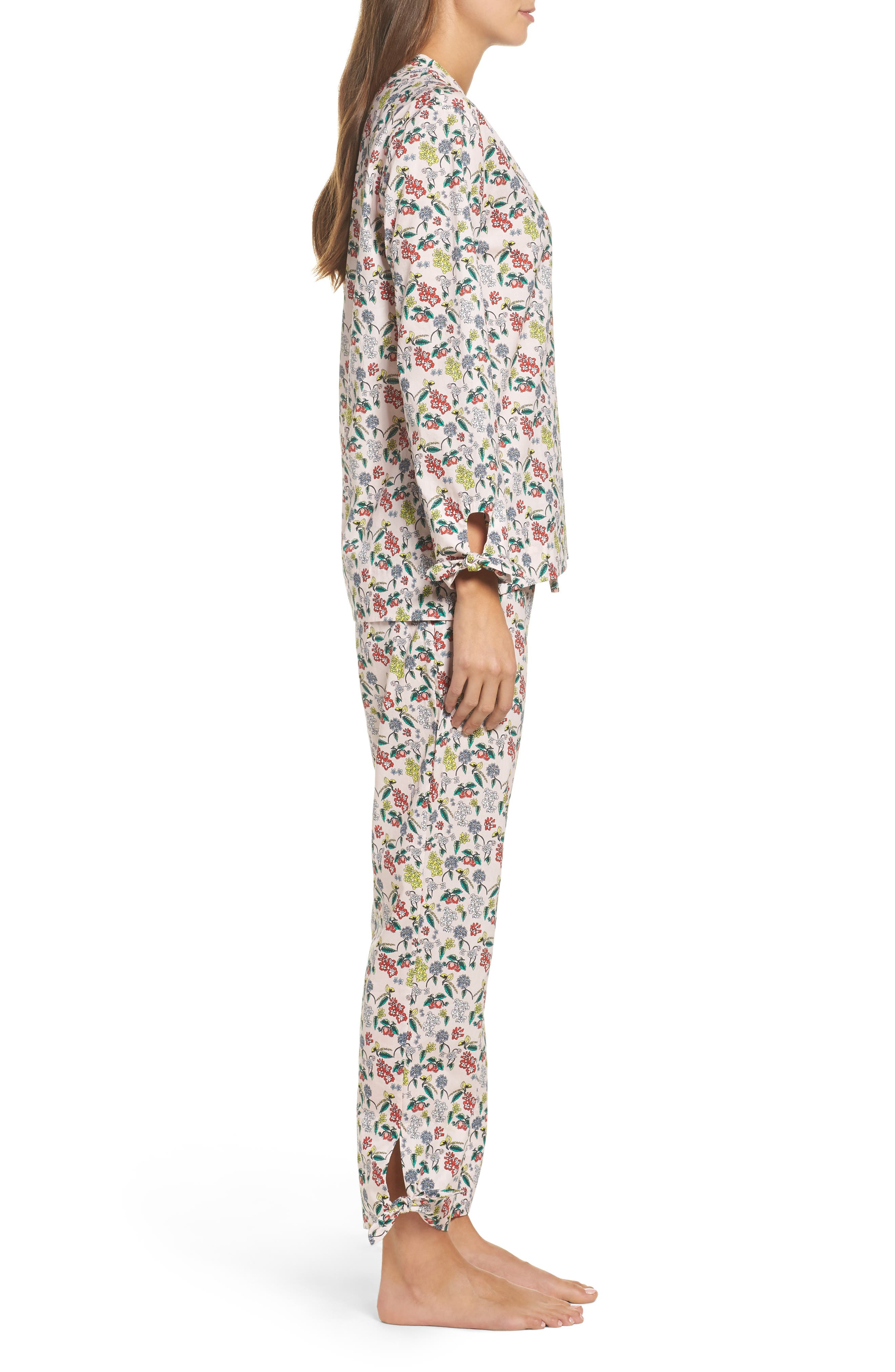 Print Cotton Poplin Pajamas,                             Alternate thumbnail 3, color,