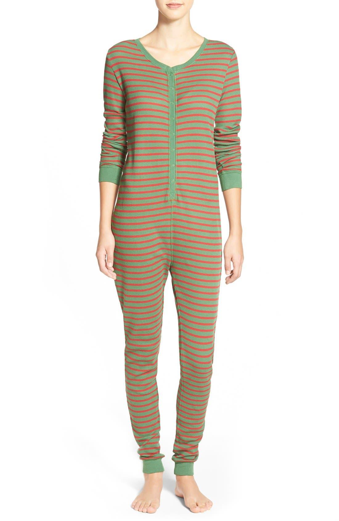 Holiday Thermal One-Piece Pajamas,                             Main thumbnail 1, color,                             310