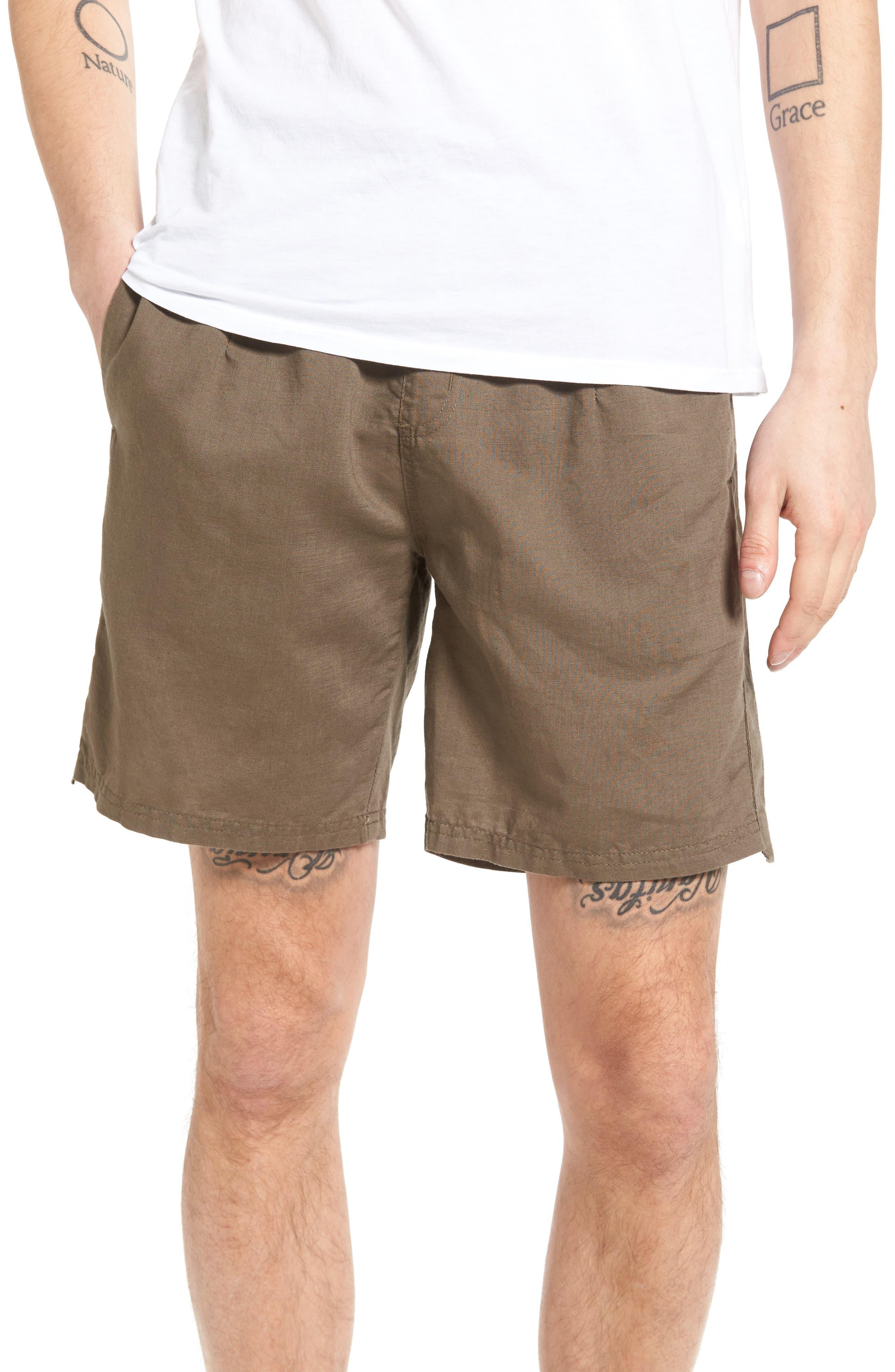 Omni Linen Blend Shorts,                         Main,                         color, 310