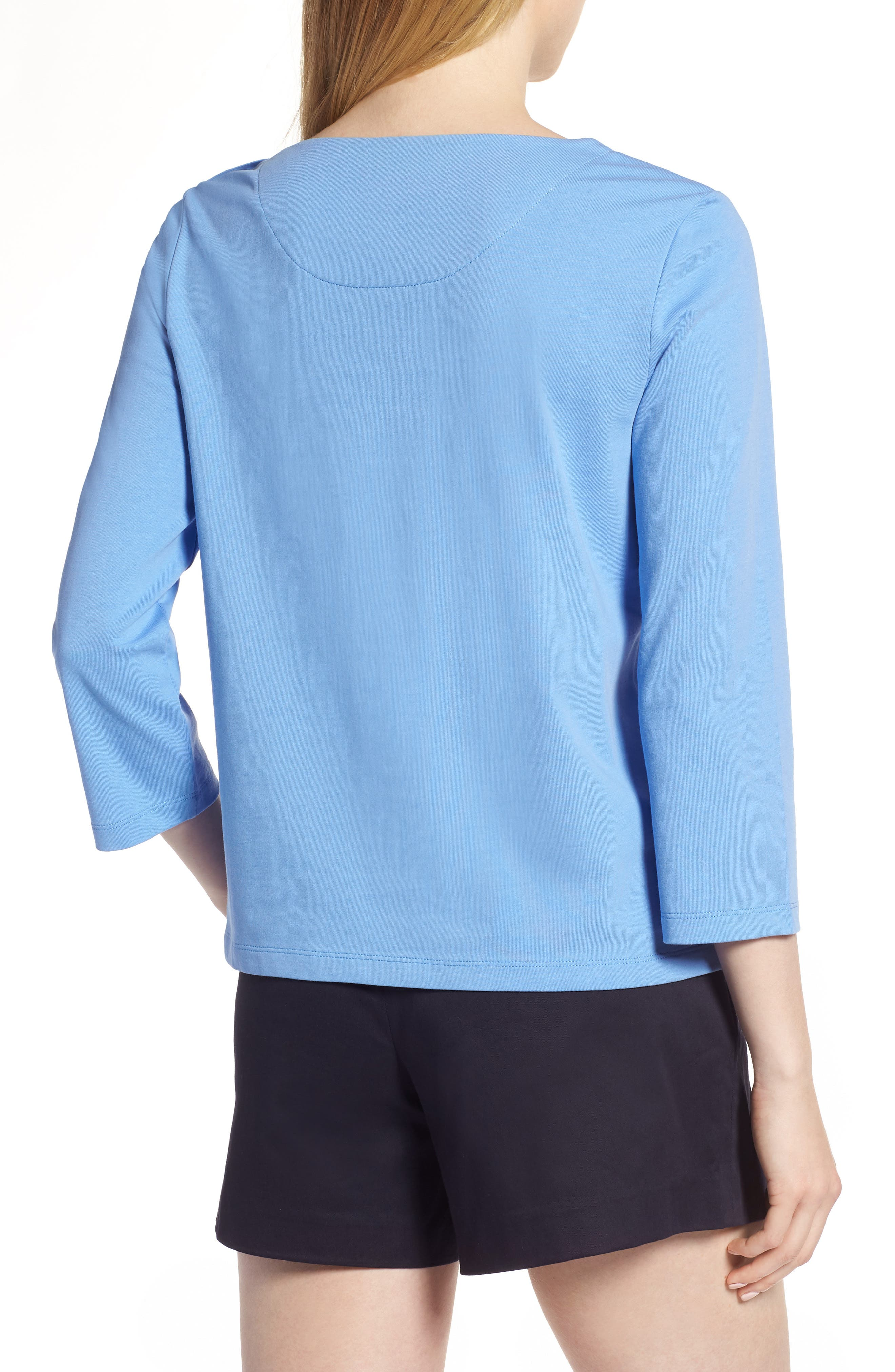 Shoulder Button Cotton Top,                             Alternate thumbnail 7, color,