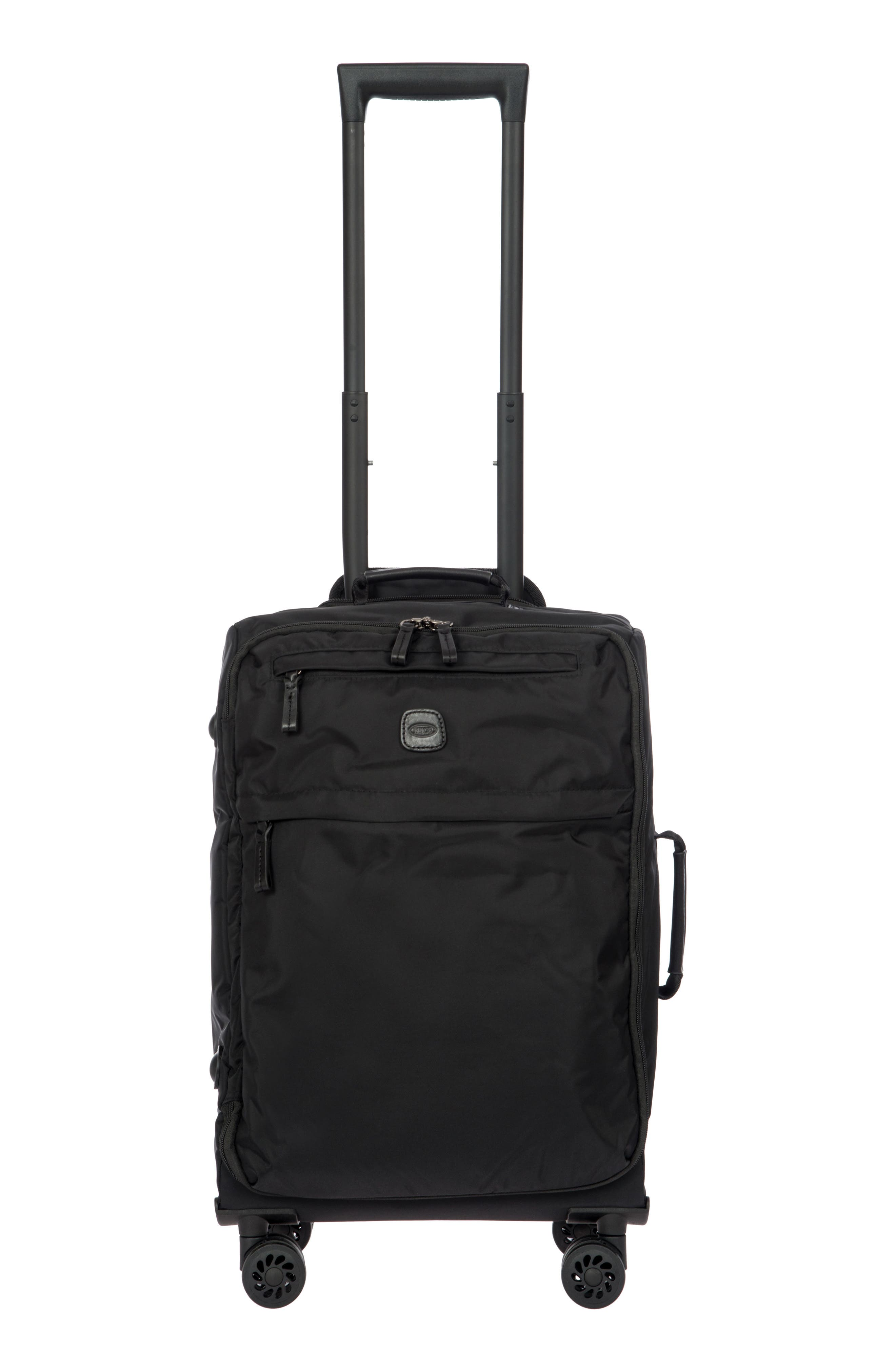 X-Bag 21-Inch Spinner Carry-On,                         Main,                         color, BLACK/ BLACK