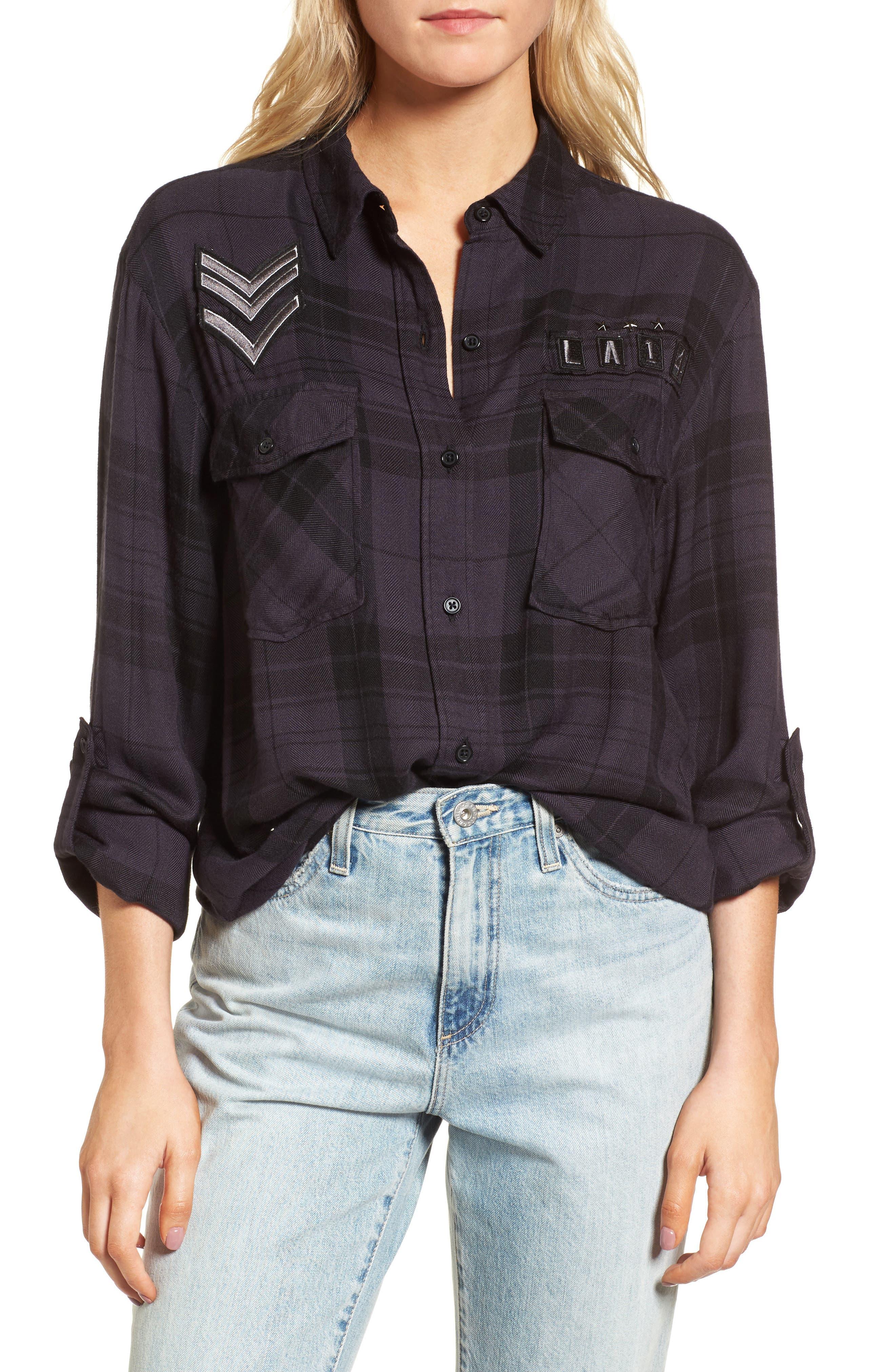 Pepper Plaid Shirt,                         Main,                         color, 001