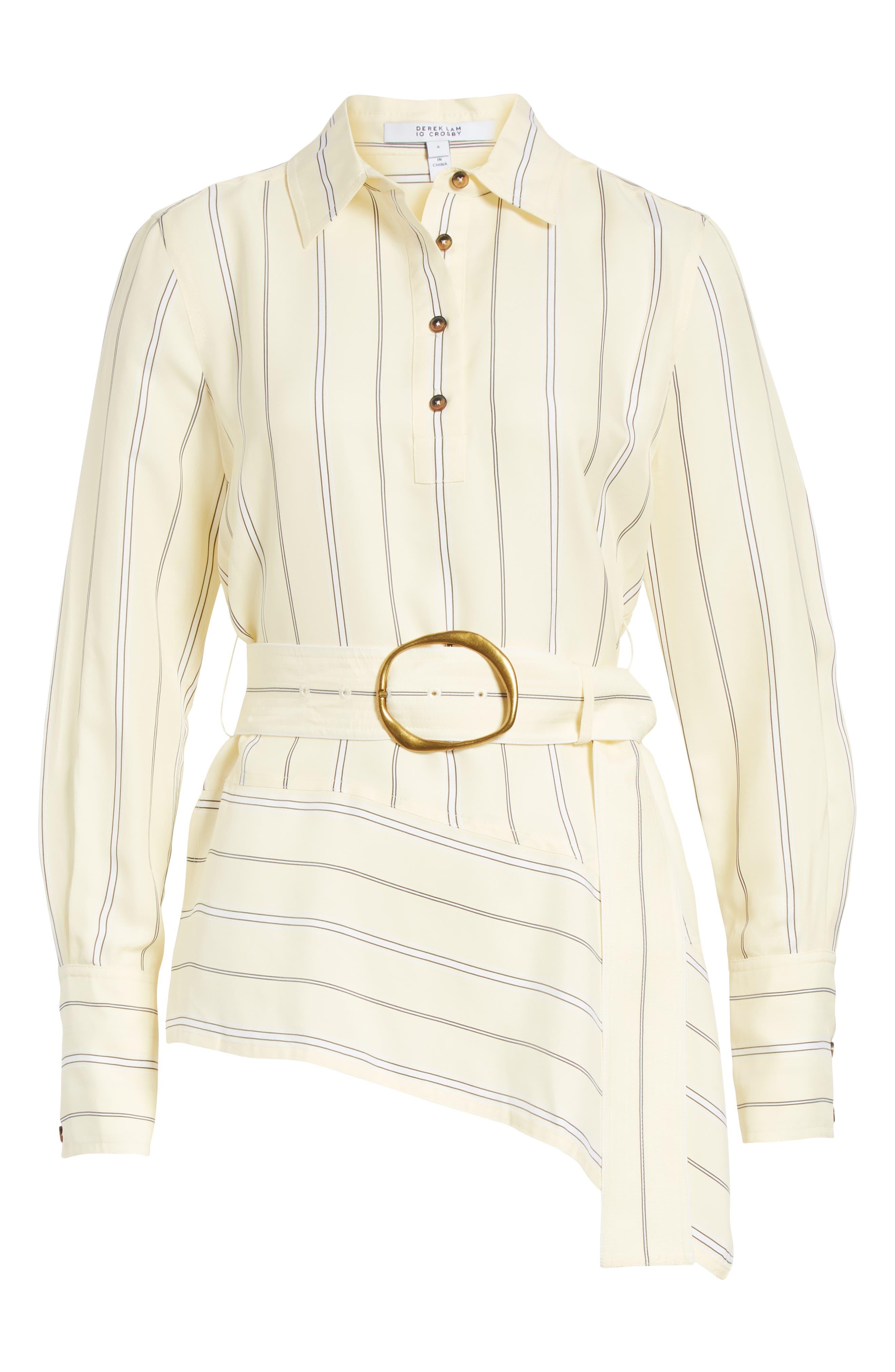 Asymmetrical Stripe Shirt,                             Alternate thumbnail 6, color,