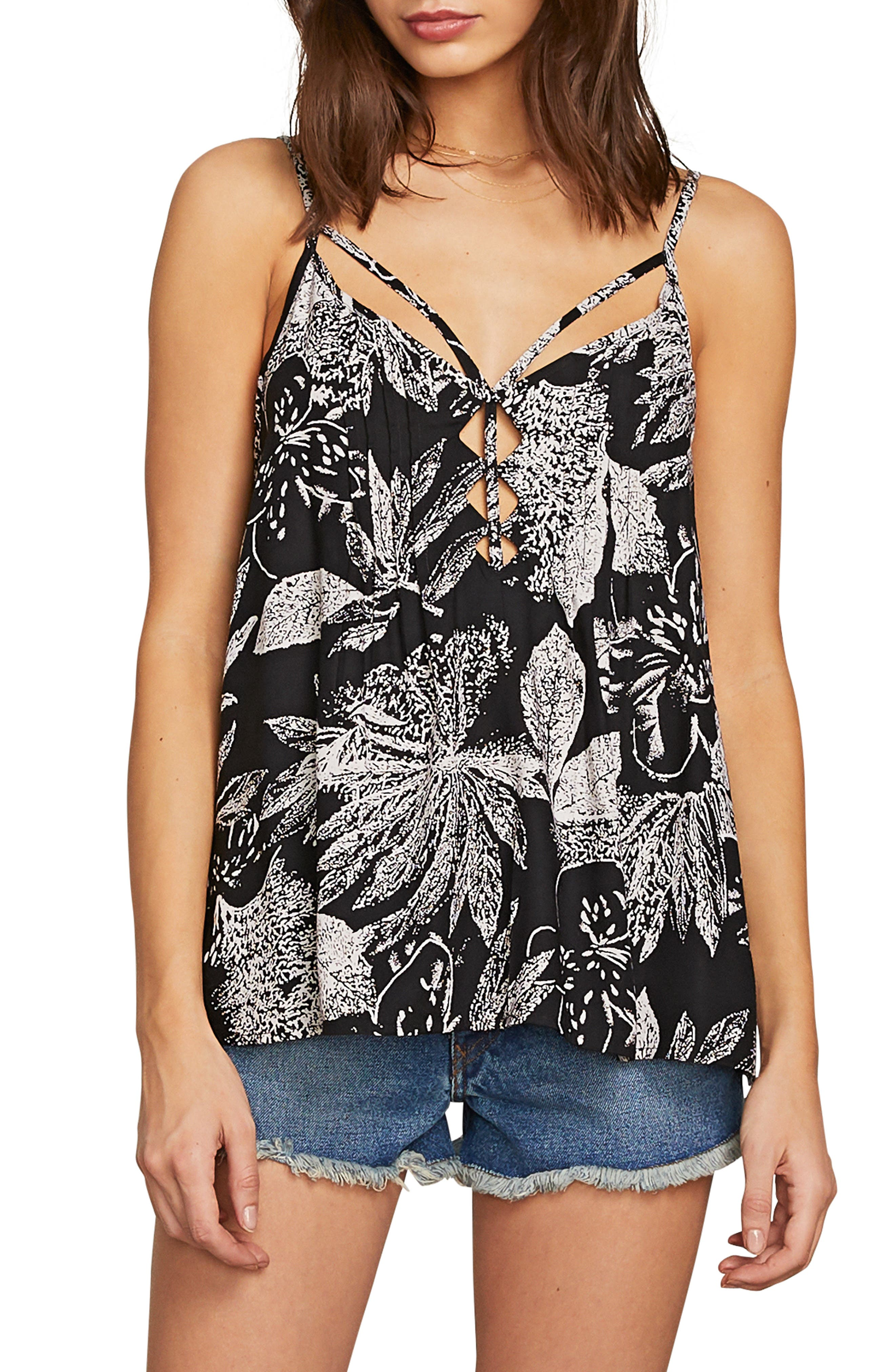 Do Tell Strappy Camisole,                             Main thumbnail 1, color,                             BLACK COMBO