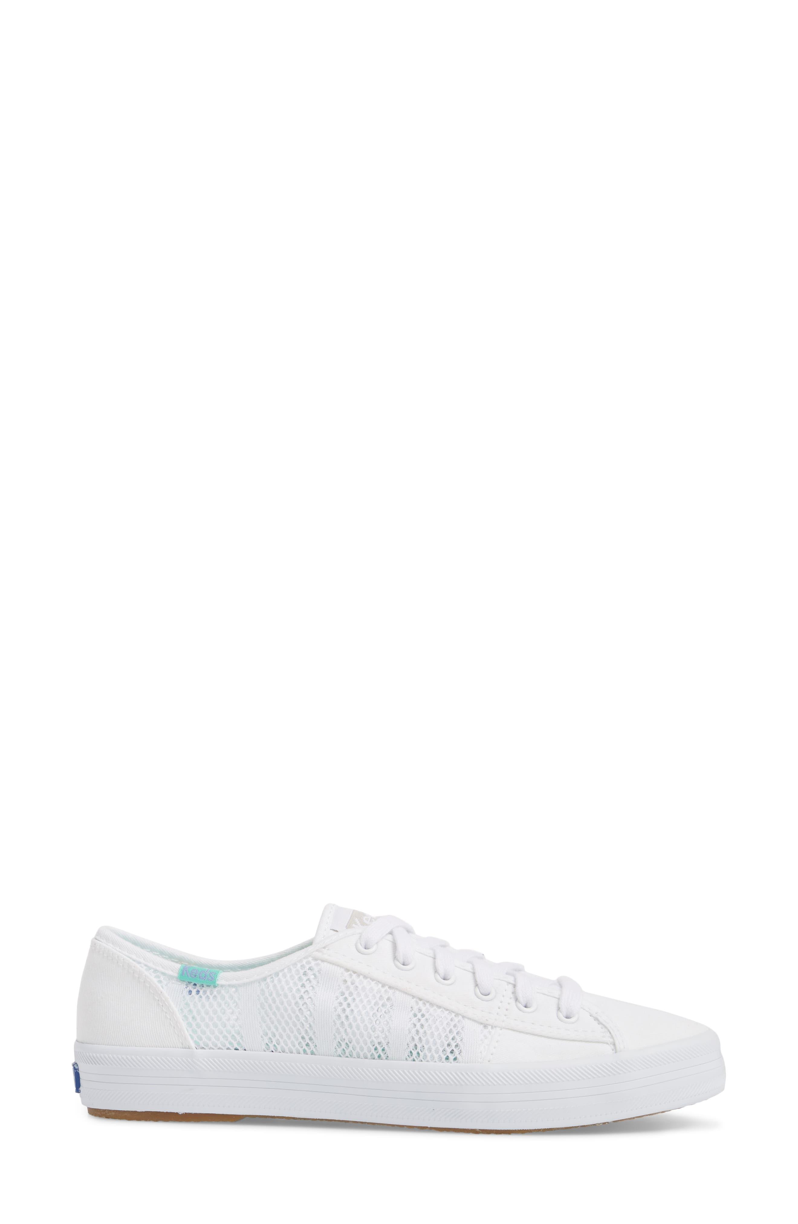 Kickstart Stripe Mesh Sneaker,                             Alternate thumbnail 3, color,                             100
