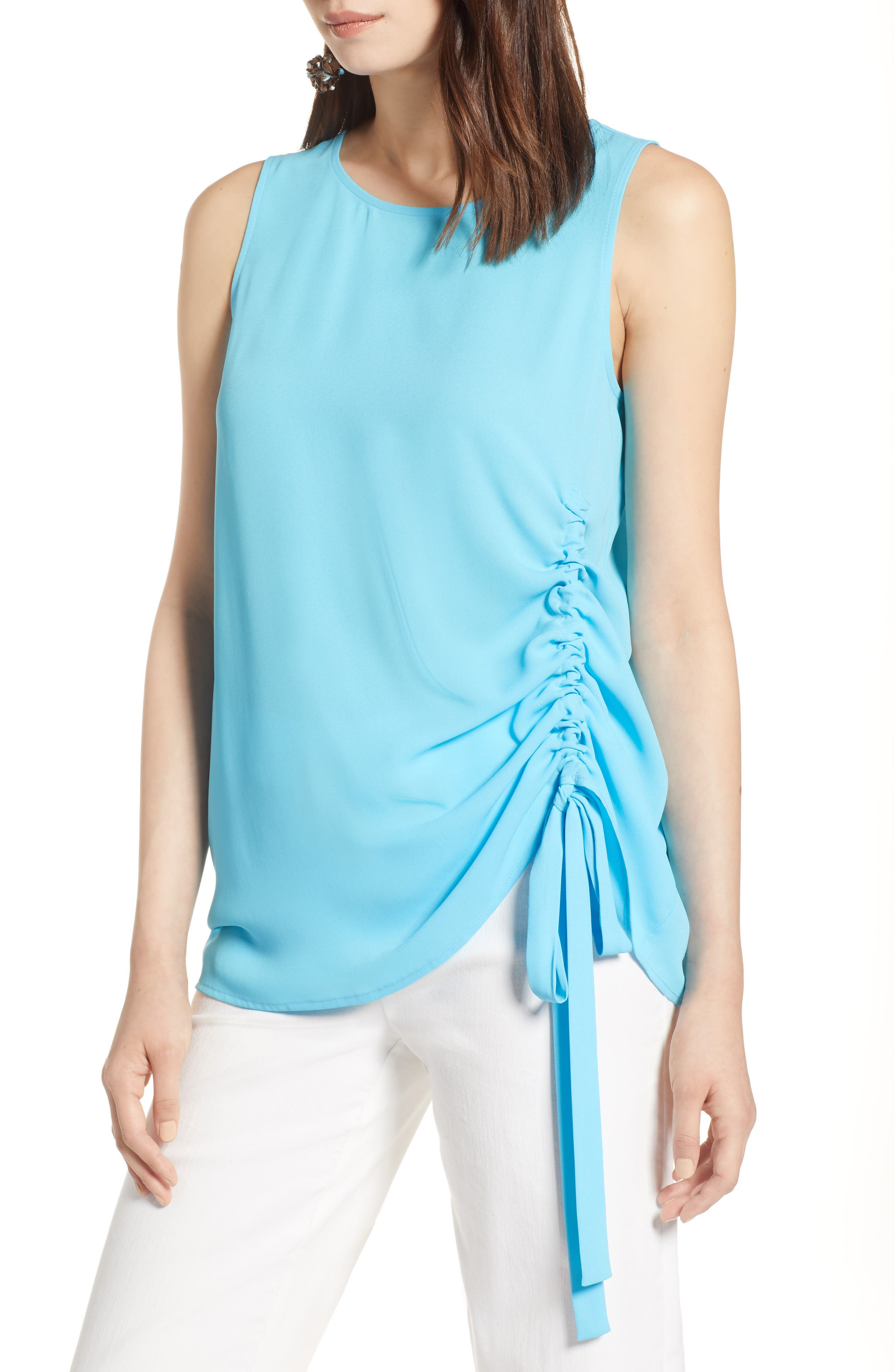 Side Ruched Top,                             Main thumbnail 4, color,